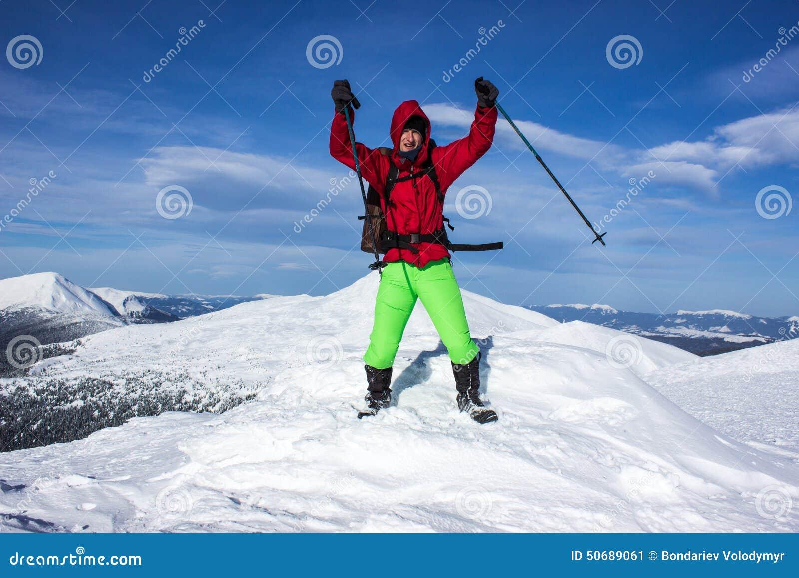 Download 远足在山的冬天 库存图片. 图片 包括有 天空, 多雪, 空间, 室外, 目标, 雪靴, 能源, 人们, 风险 - 50689061