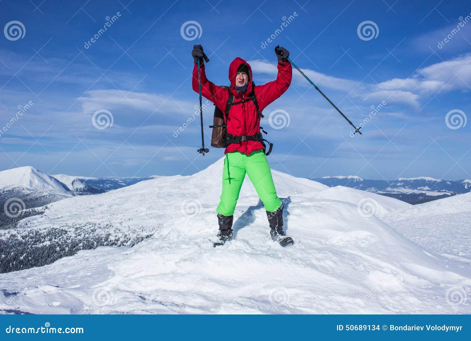 Download 远足在山的冬天 库存照片. 图片 包括有 精神, 风险, 节假日, 有效地, 空间, 能源, 远足者, 高度 - 50689134