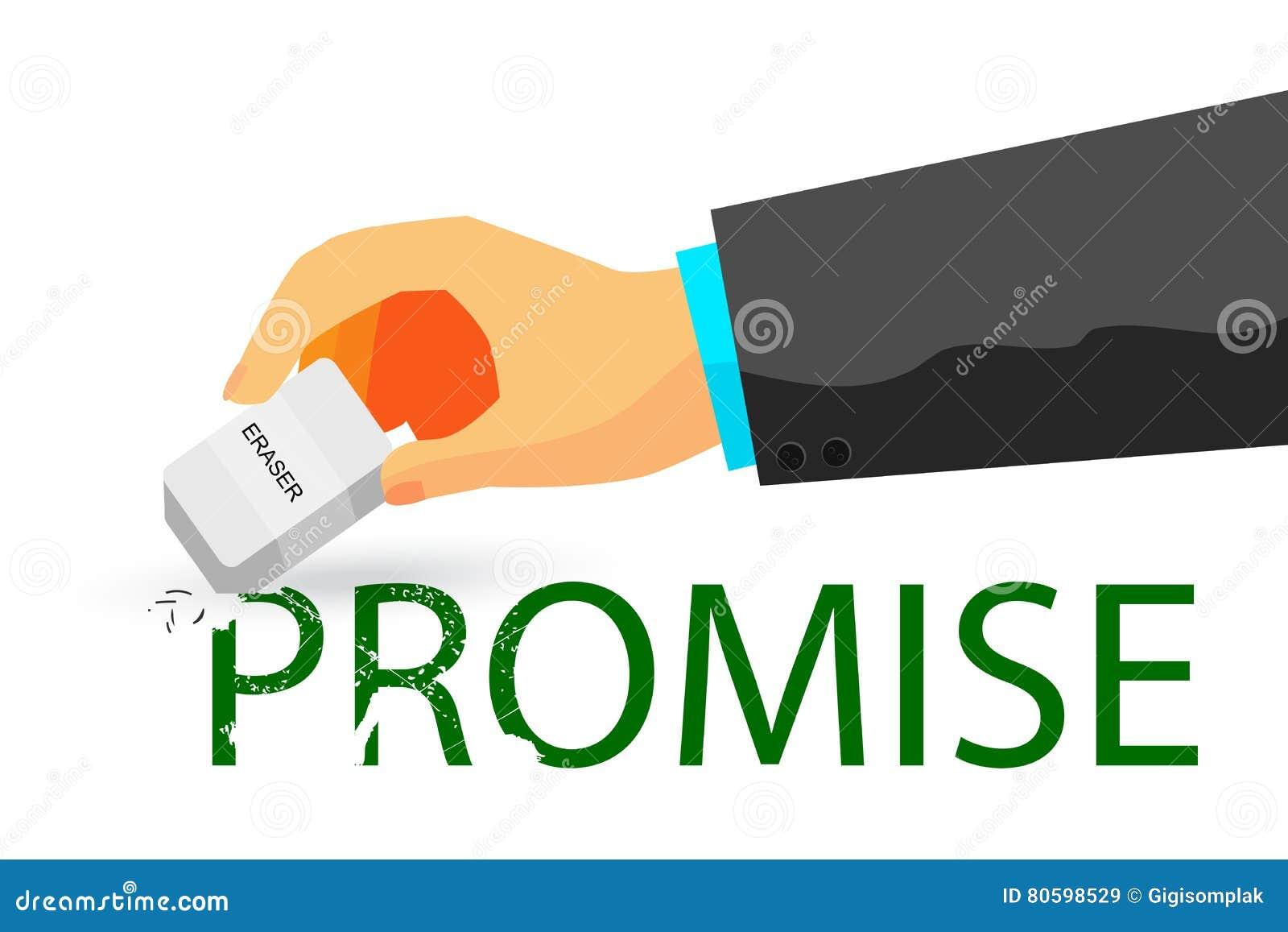 违反的诺言例证