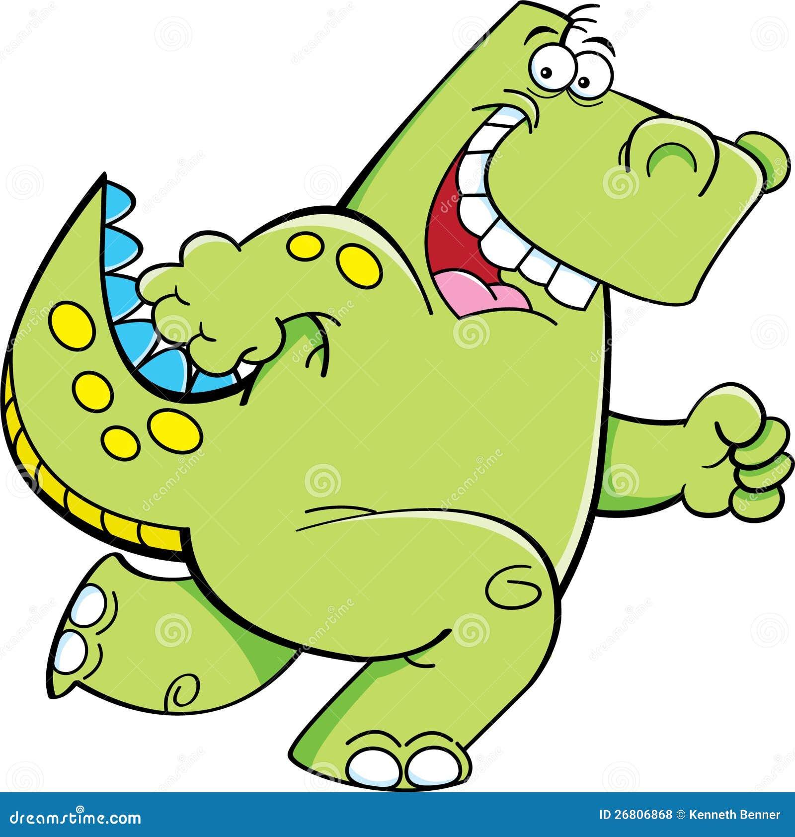连续恐龙的动画片例证.图片
