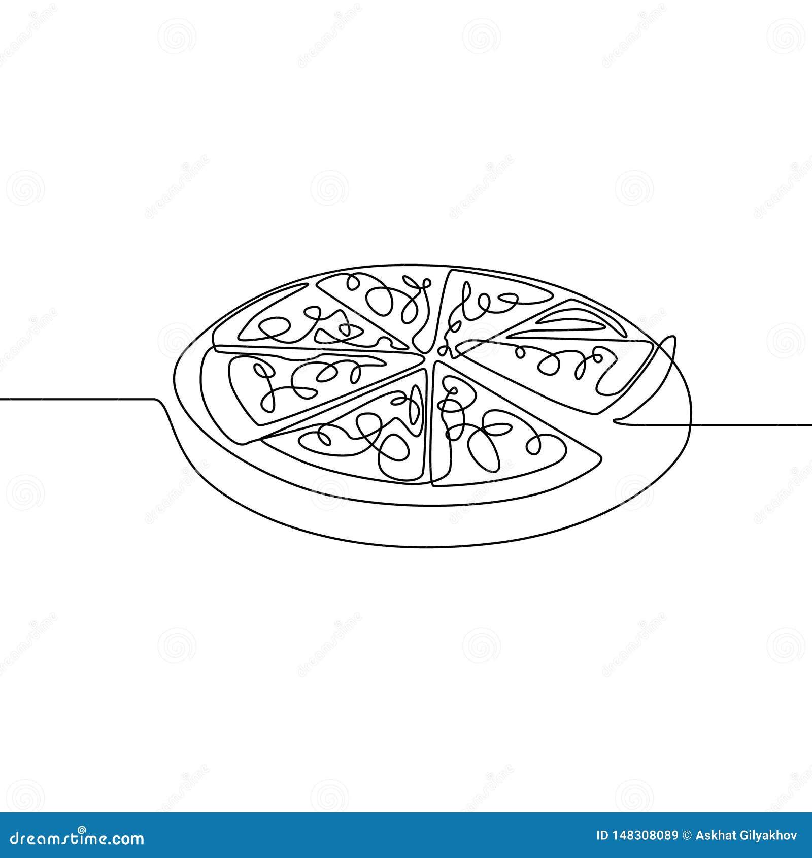 连续的一条线比萨 ?? r