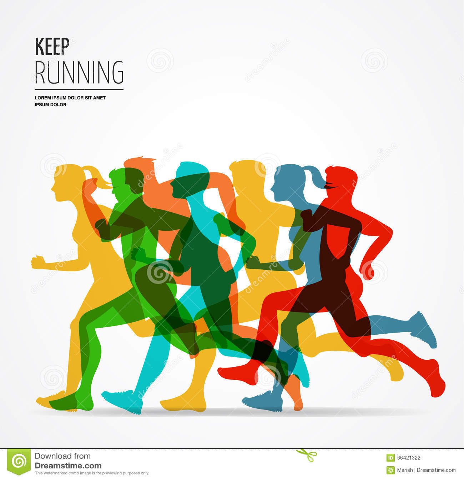 连续马拉松,人奔跑,五颜六色的海报和背景.