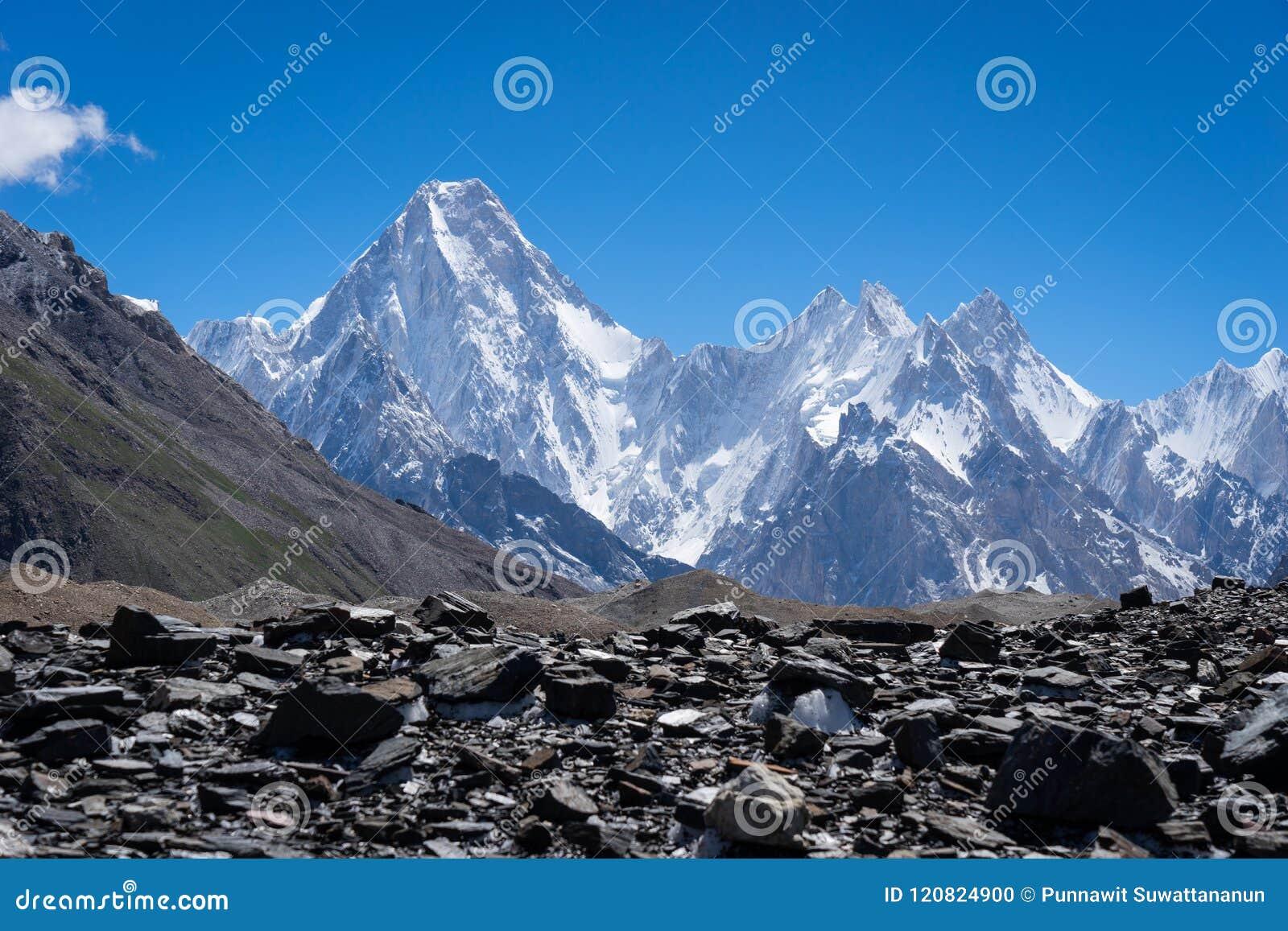 迦舒布鲁姆喀喇昆仑山脉范围的, K2艰苦跋涉,巴基斯坦山断层块