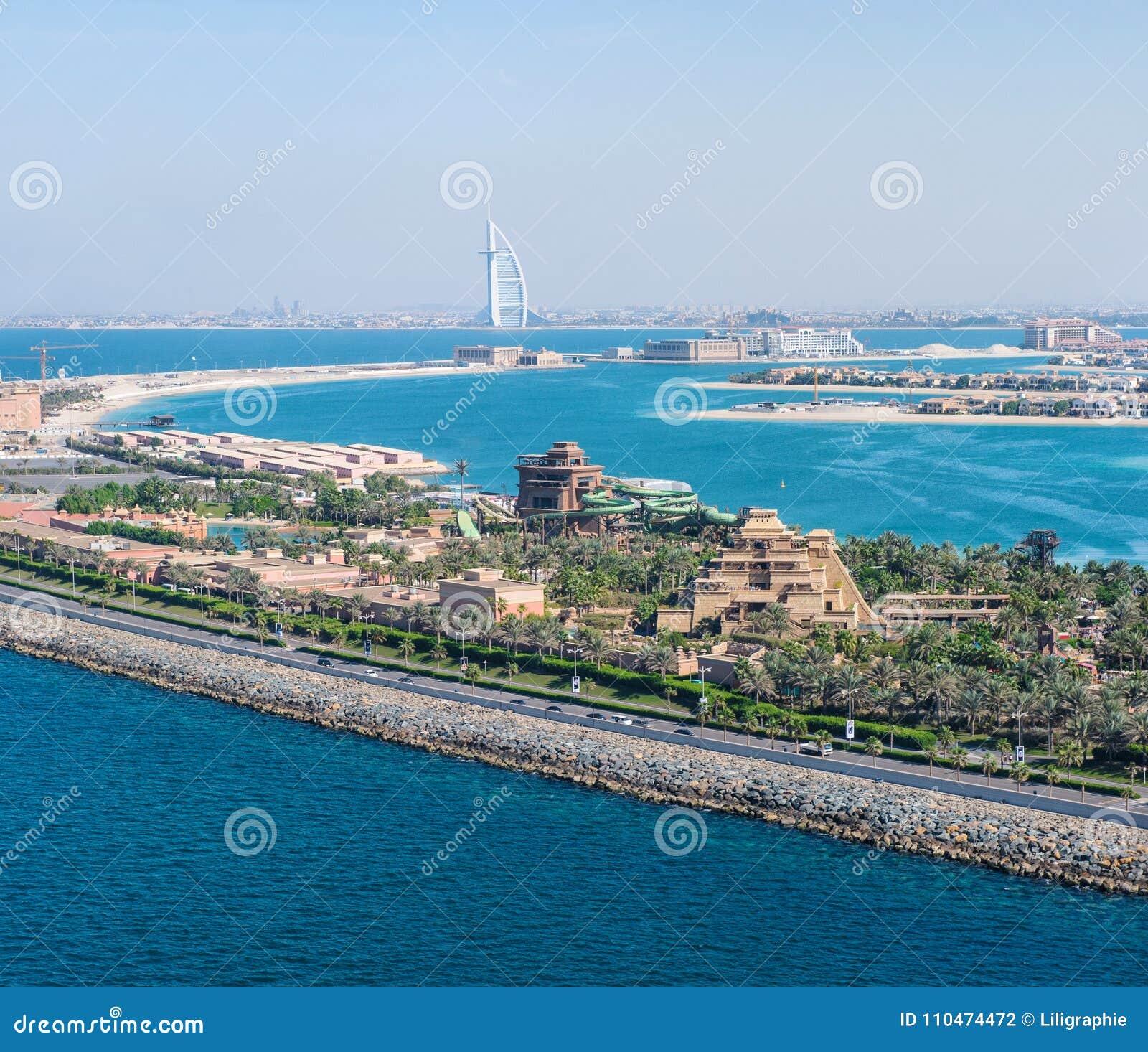 迪拜海岸线风景阿联酋