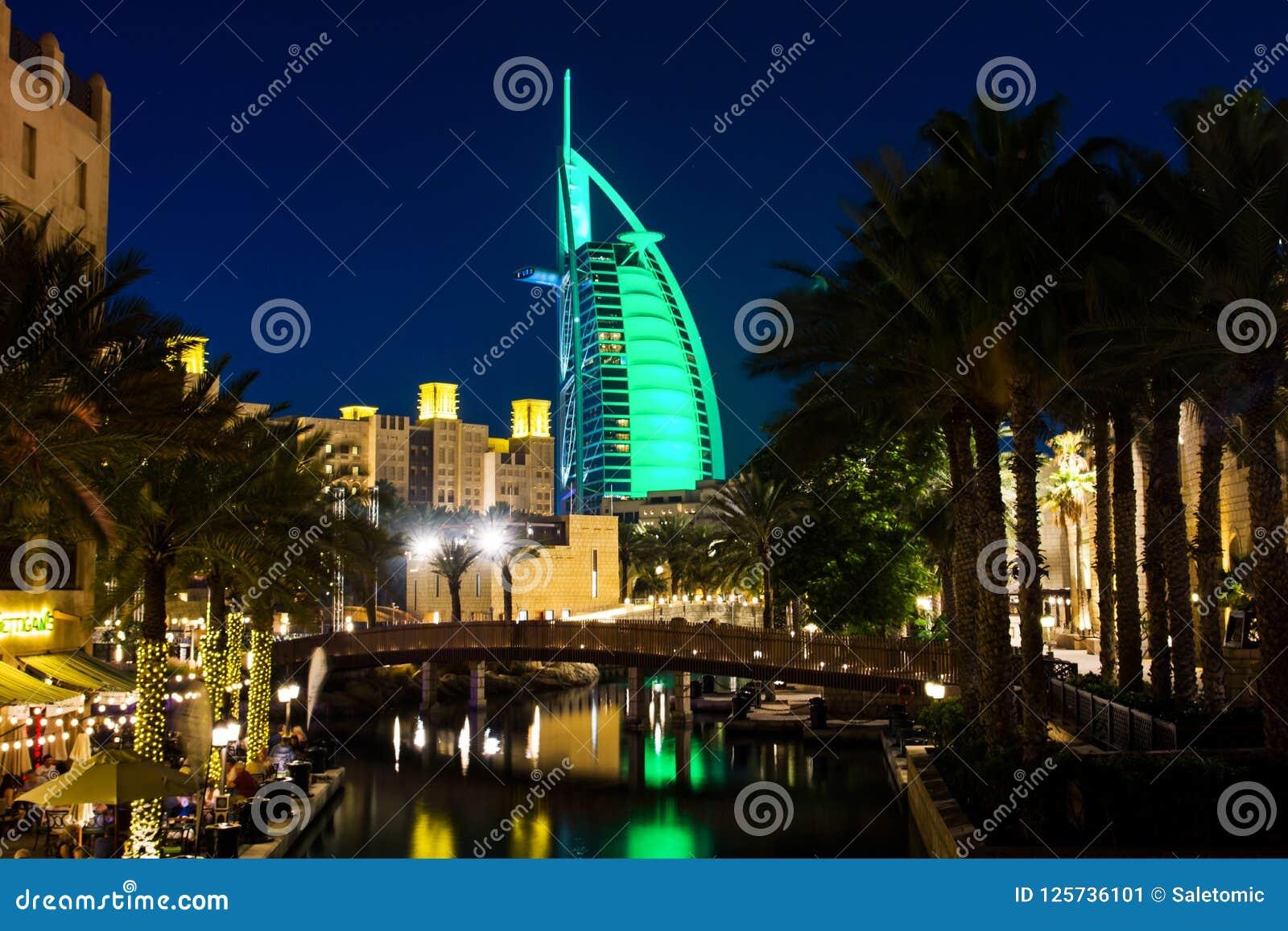 迪拜,阿联酋- 2018年4月20日:Burj Al阿拉伯人luxur