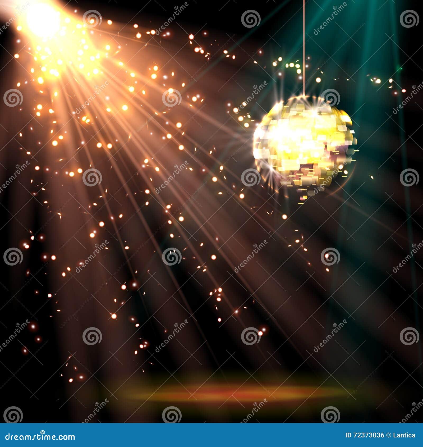 迪斯科与光的球背景