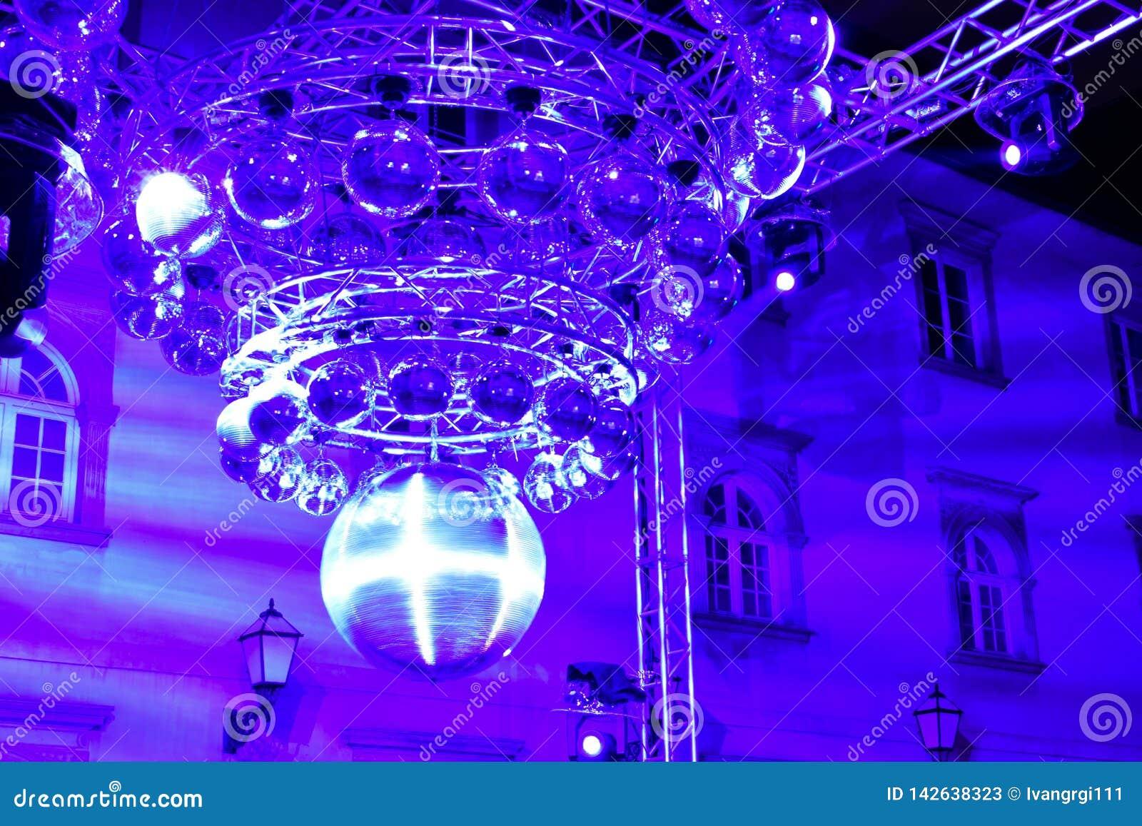 迪斯科球艺术设施在萨格勒布,克罗地亚