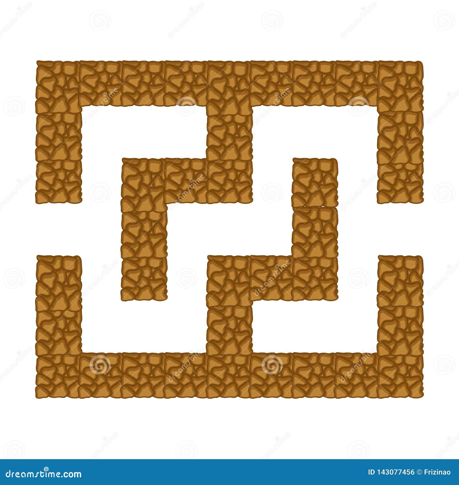 迷宫地下 比赛孩子 孩子的难题 动画片样式 迷宫难题 使颜色女孩例证杂志读的含沙向量靠岸 的treadled