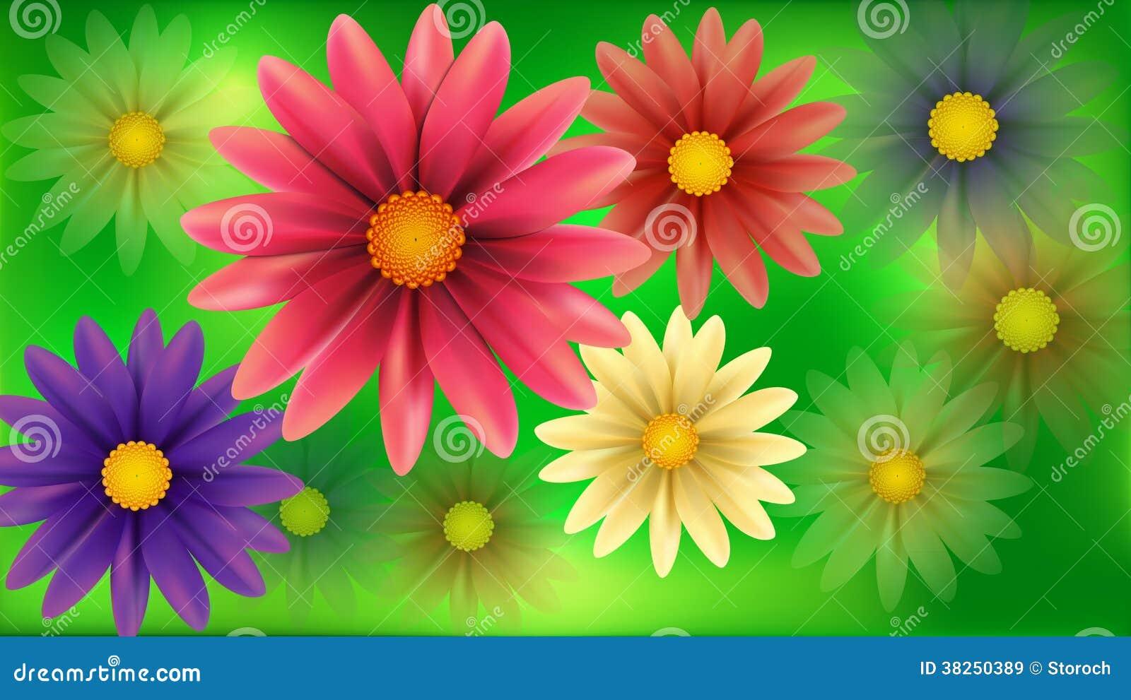 迷离开花抽象背景。