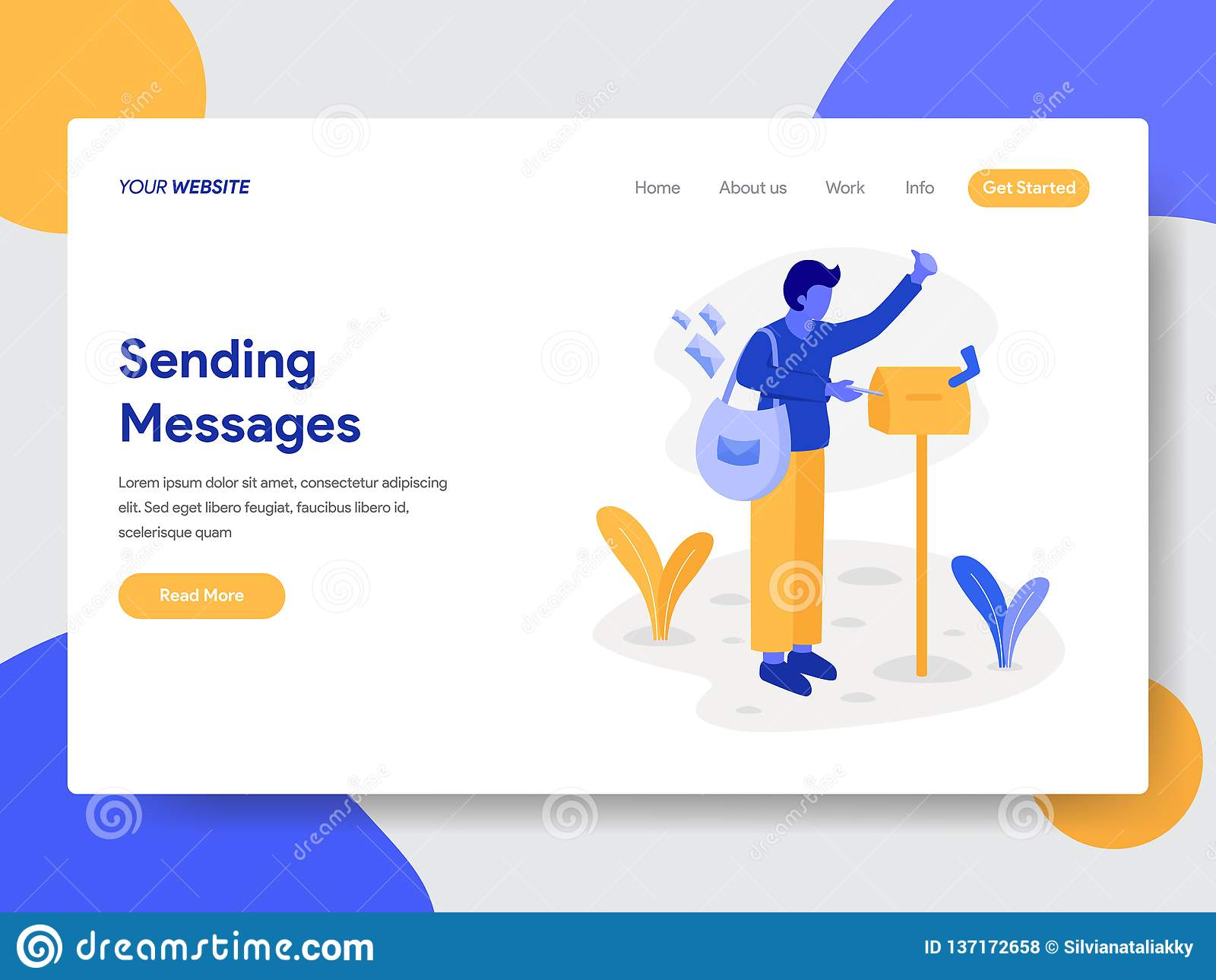 送货员登陆的页模板有邮箱例证概念的 网页设计的现代平的设计观念网站的