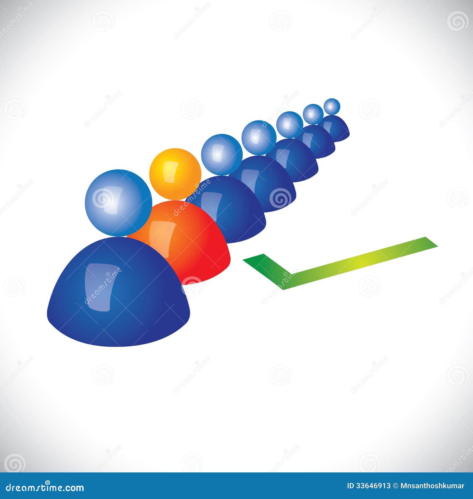 选择或雇用正确的职员的概念,工作者