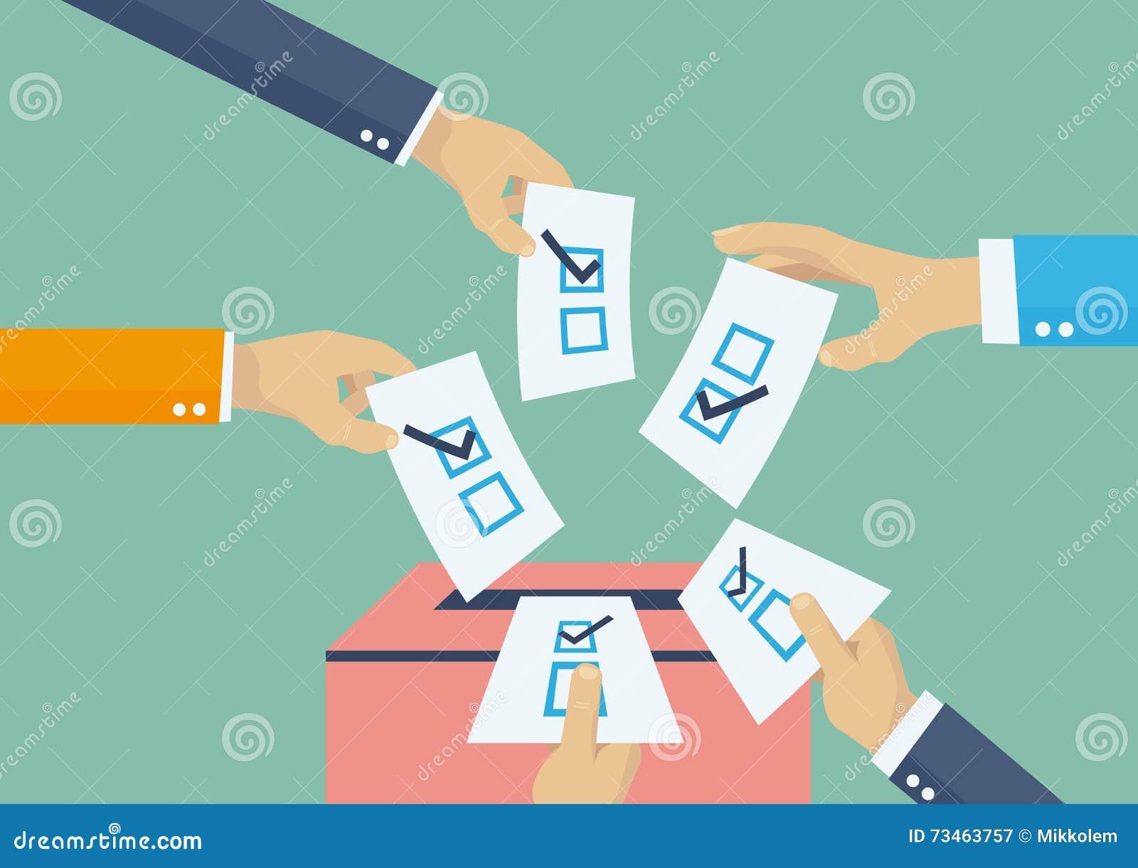 选择投票向量例证. 插画包括有爱...
