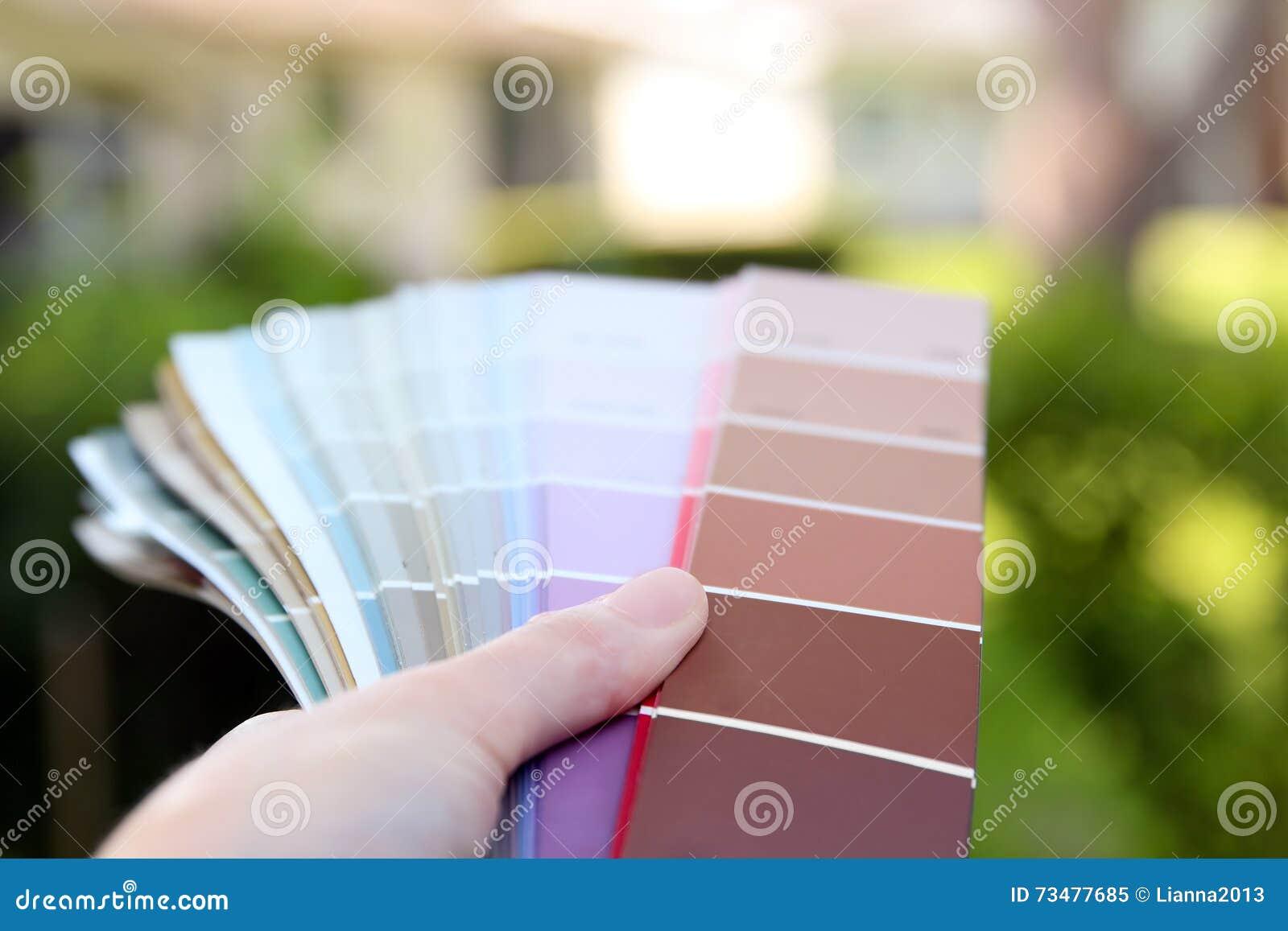 选择设计项目的经销处颜色样品