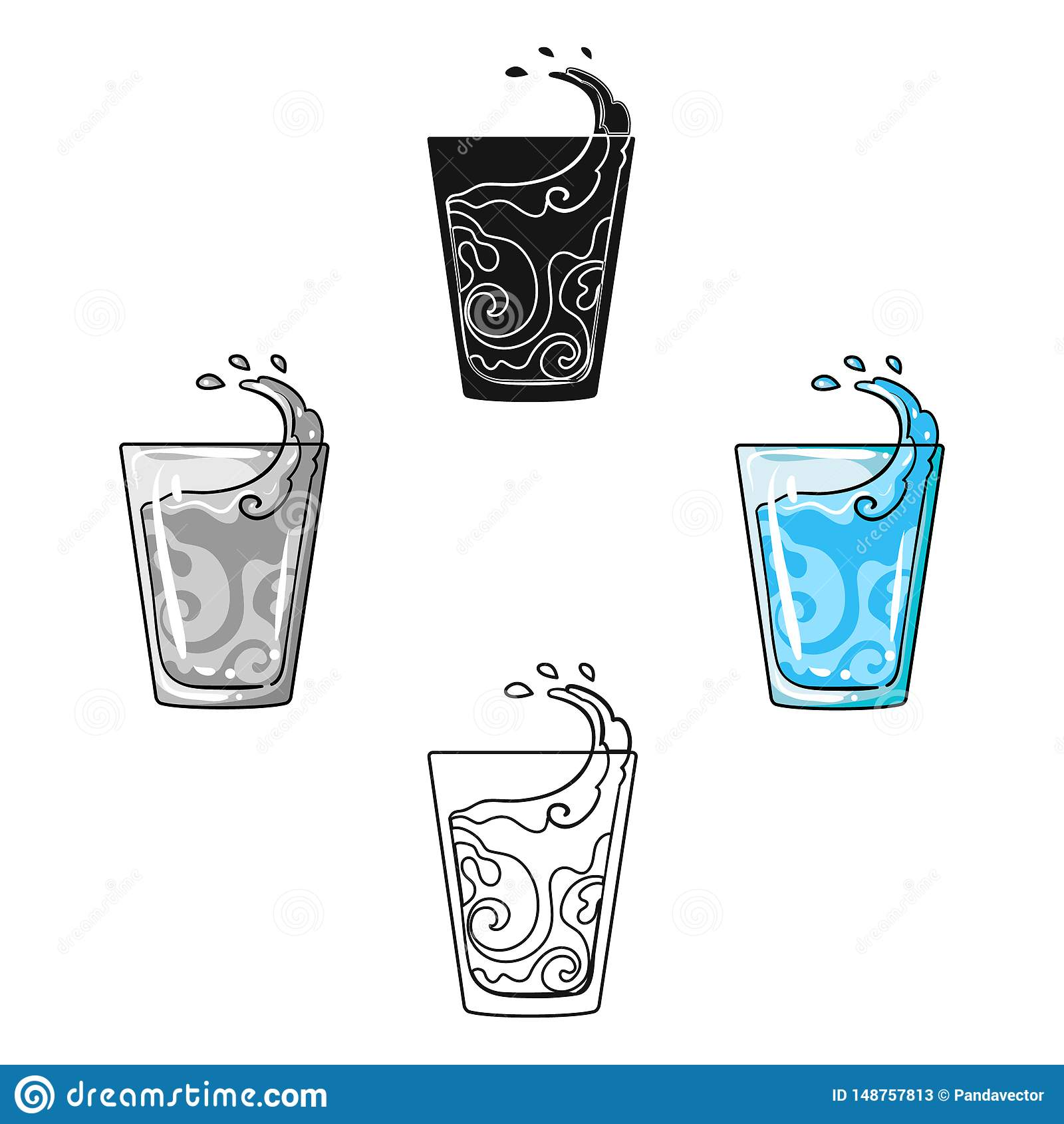 透明玻璃用水 采取我的糖尿病患者的药片胰岛素的水 在动画片,黑样式的糖尿病唯一象