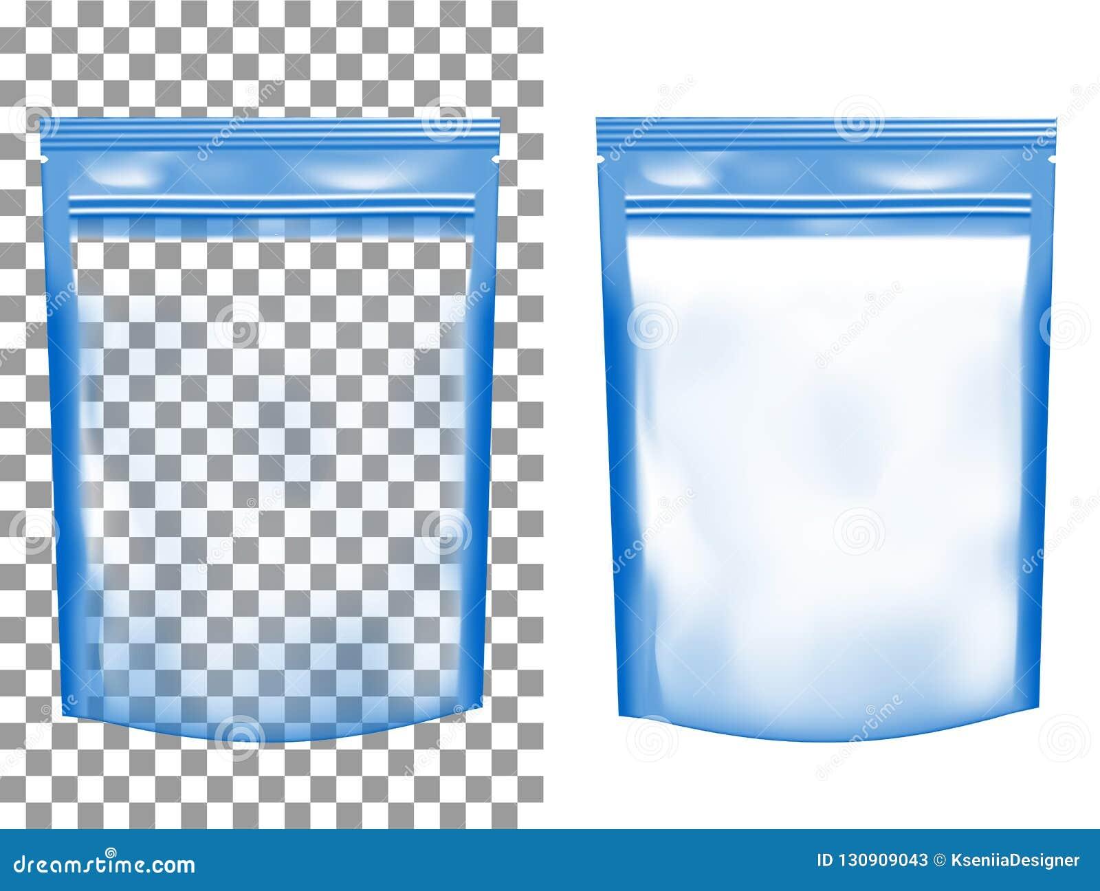 透明空塑料封装与拉链 空白的箔sach