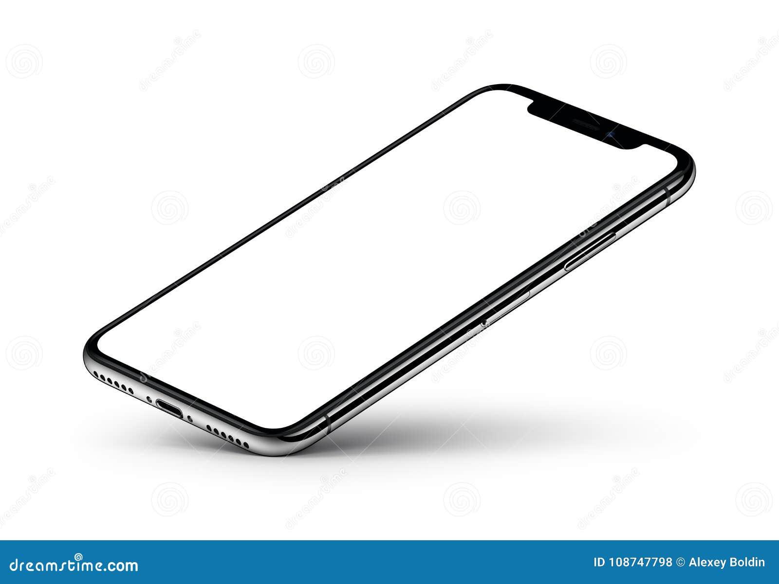 透视图与黑屏的智能手机大模型基于一个角落