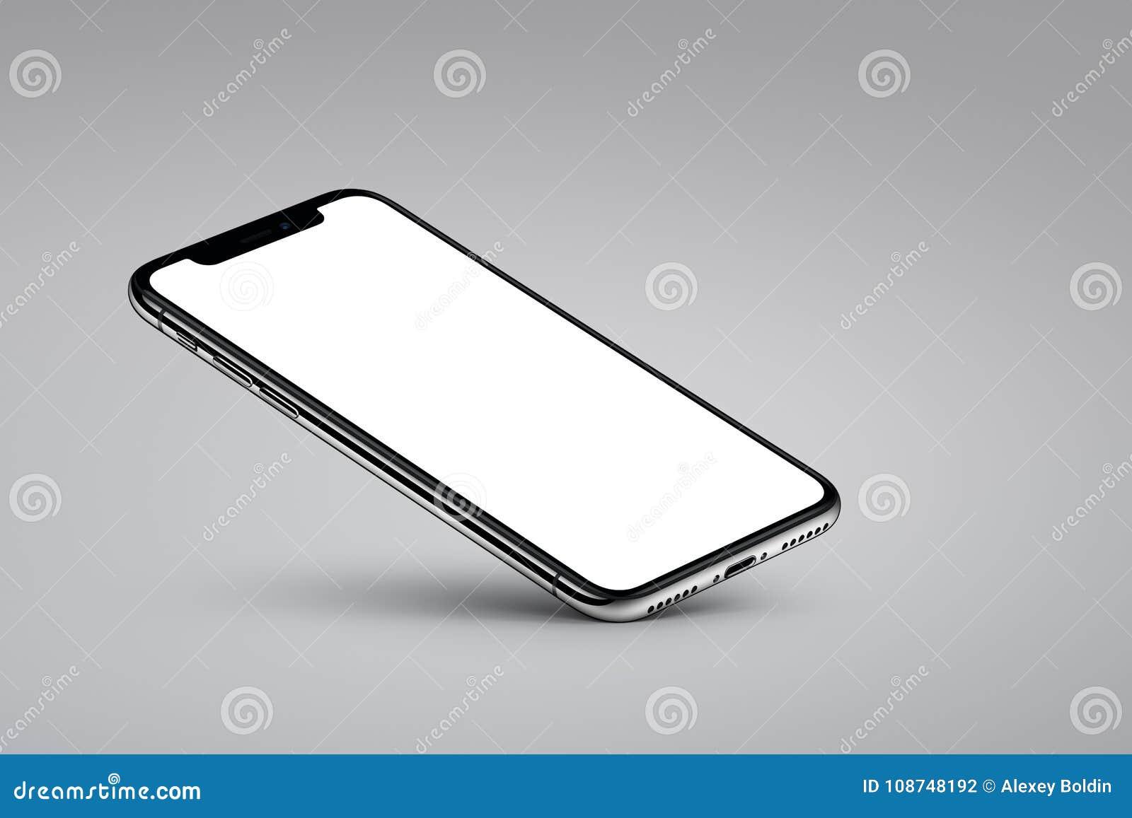 透视veiw智能手机大模型基于在灰色背景的一个角落