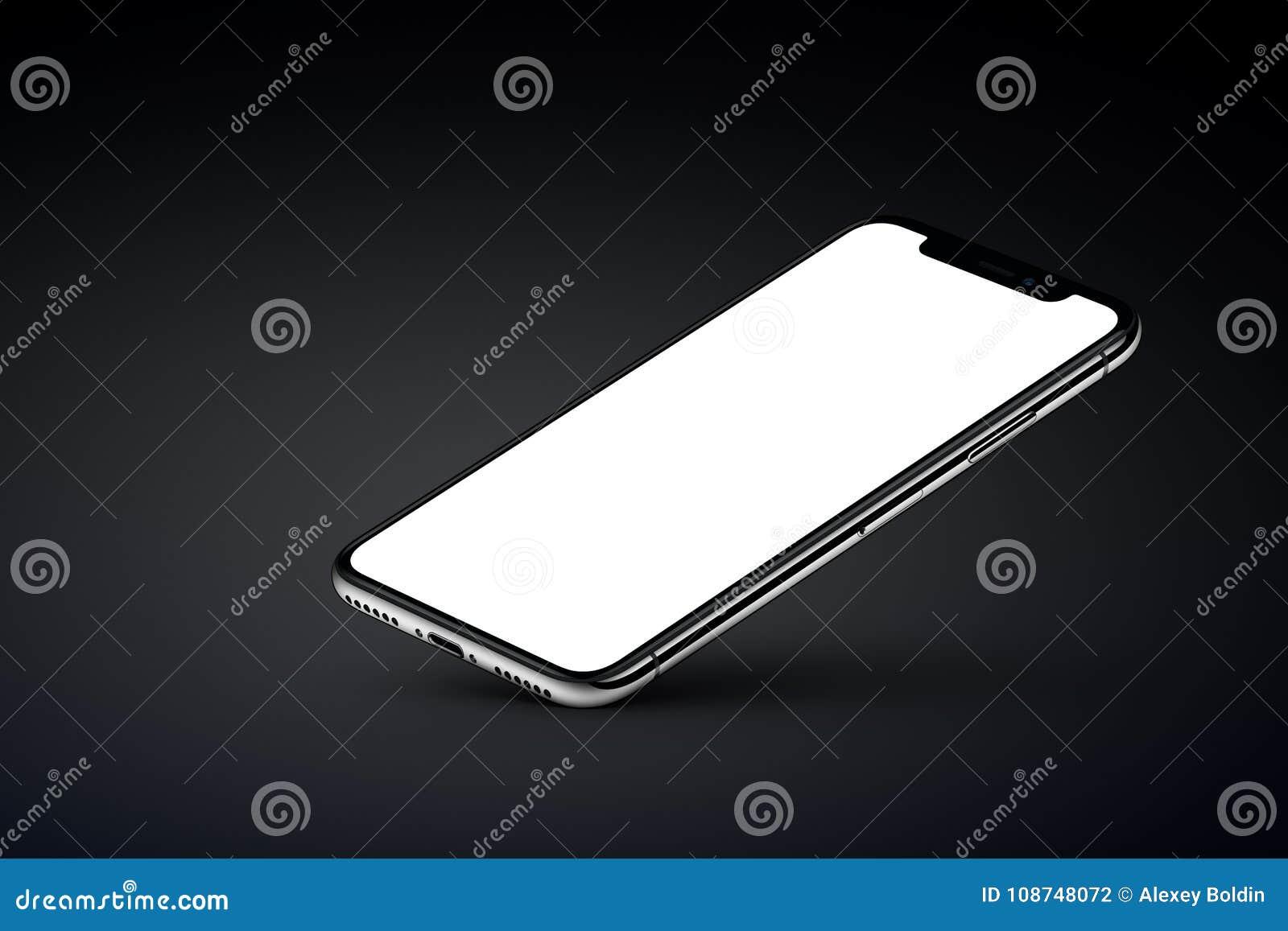 透视veiw智能手机大模型基于在黑背景的一个角落