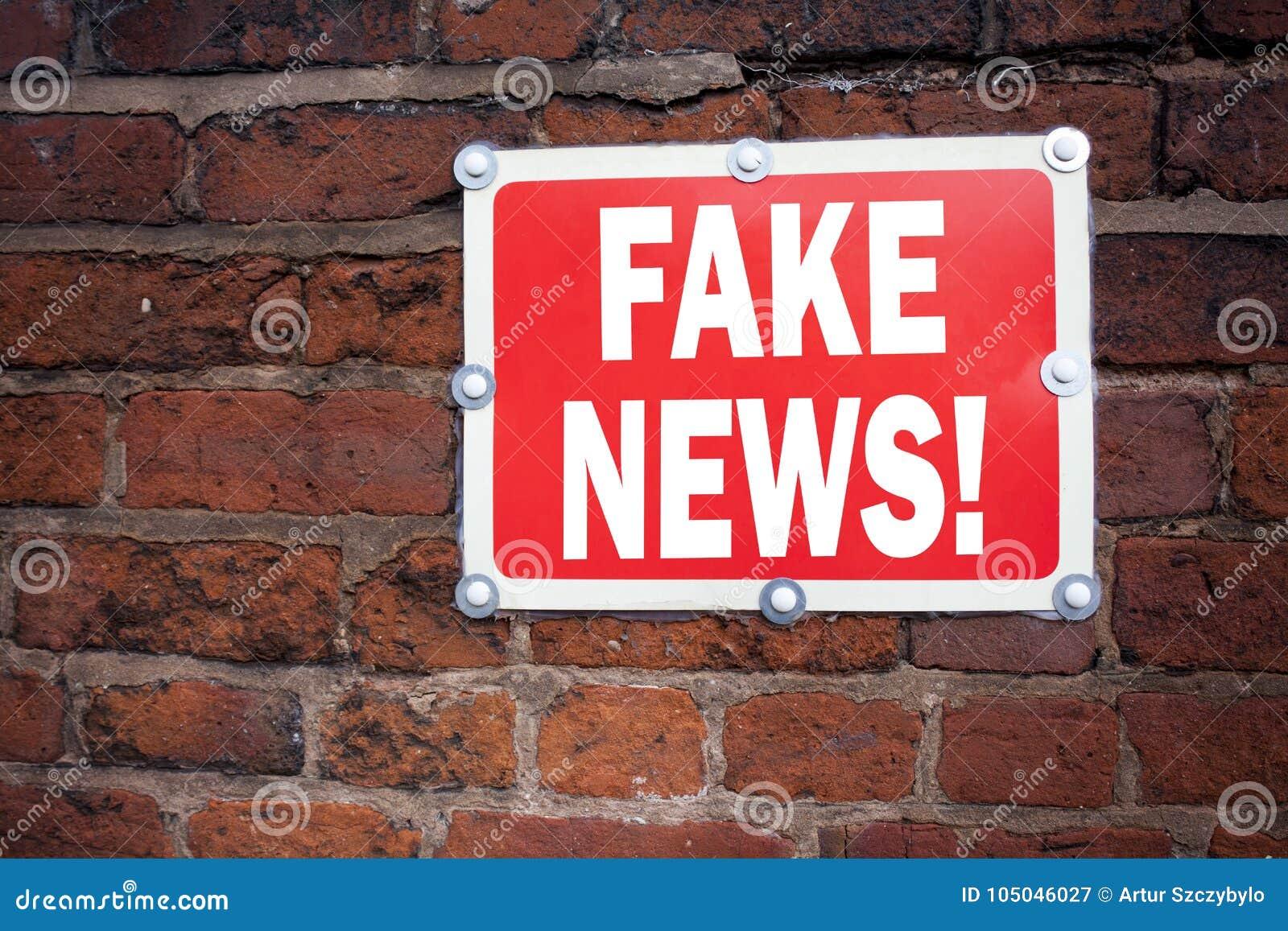 递文字文本显示假新闻概念意思宣传报纸伪造品新闻的说明启发写在老公告