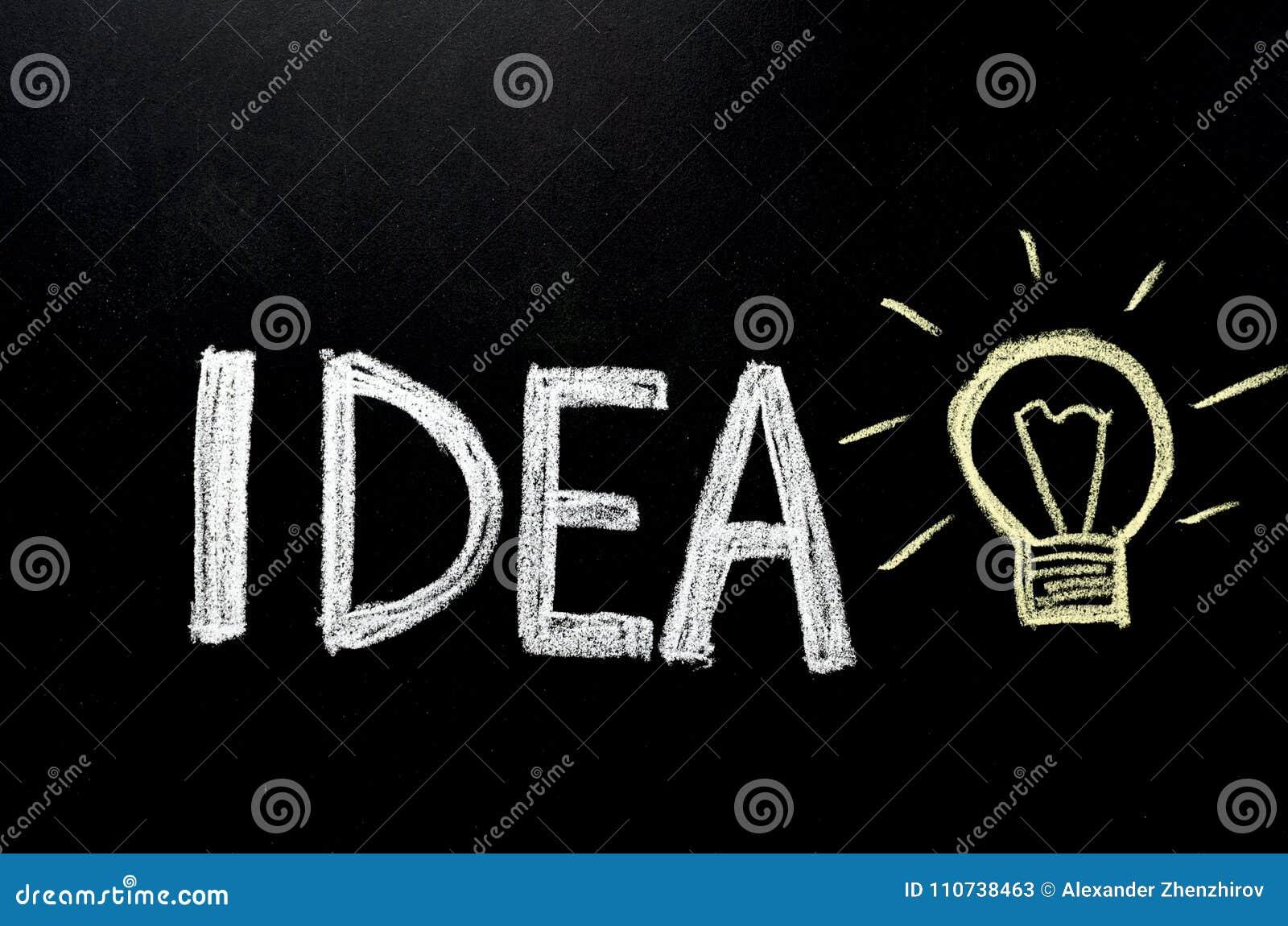 递文字`在黑板的想法`