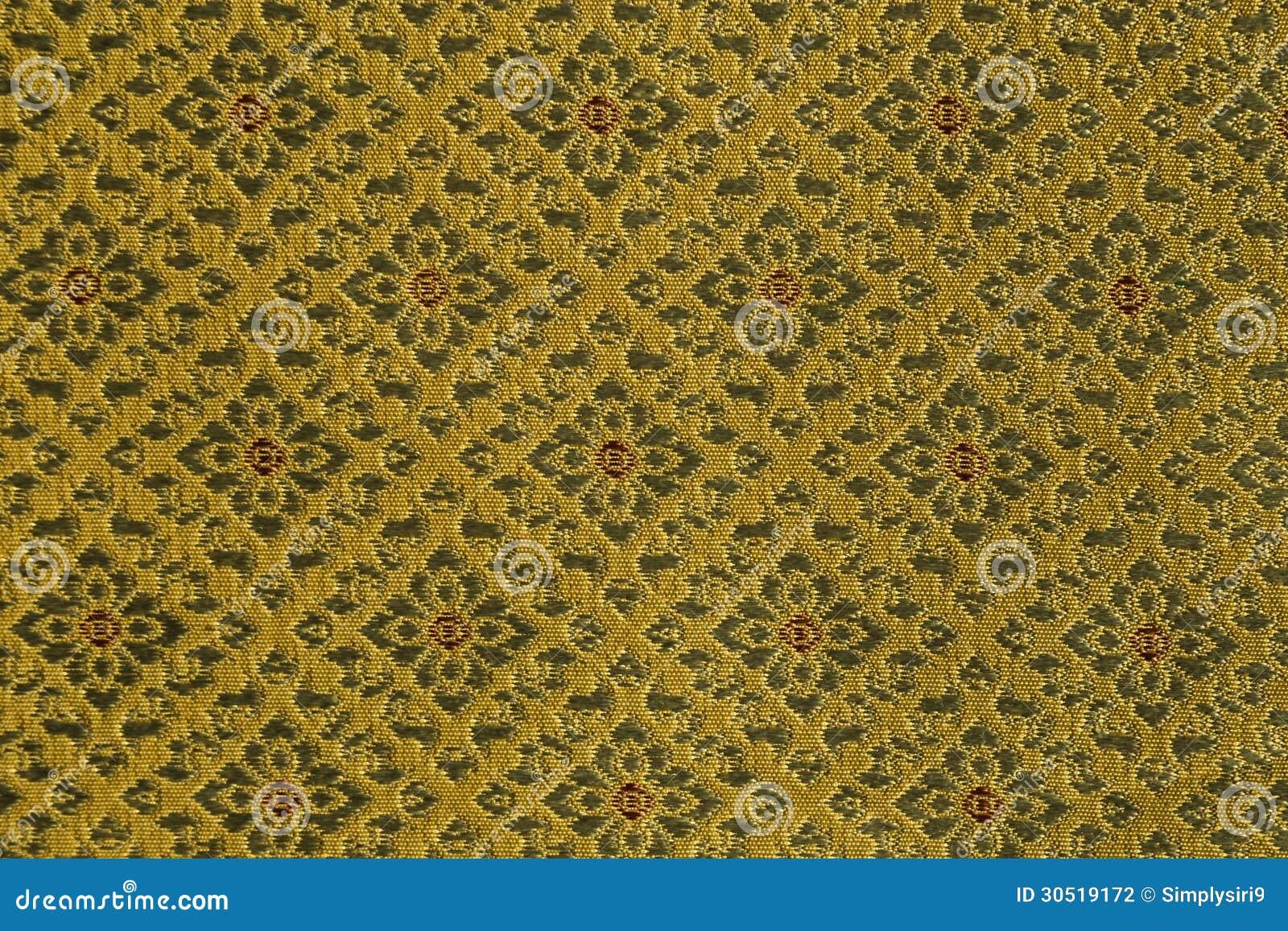 递被编织的传统泰国丝绸,锦设计