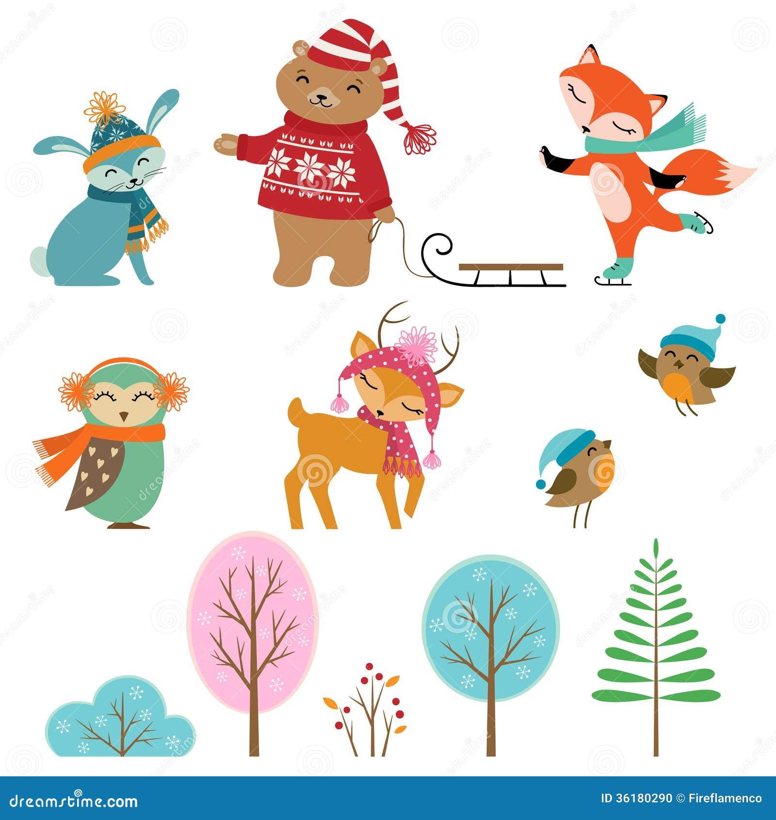 逗人喜爱的冬天动物