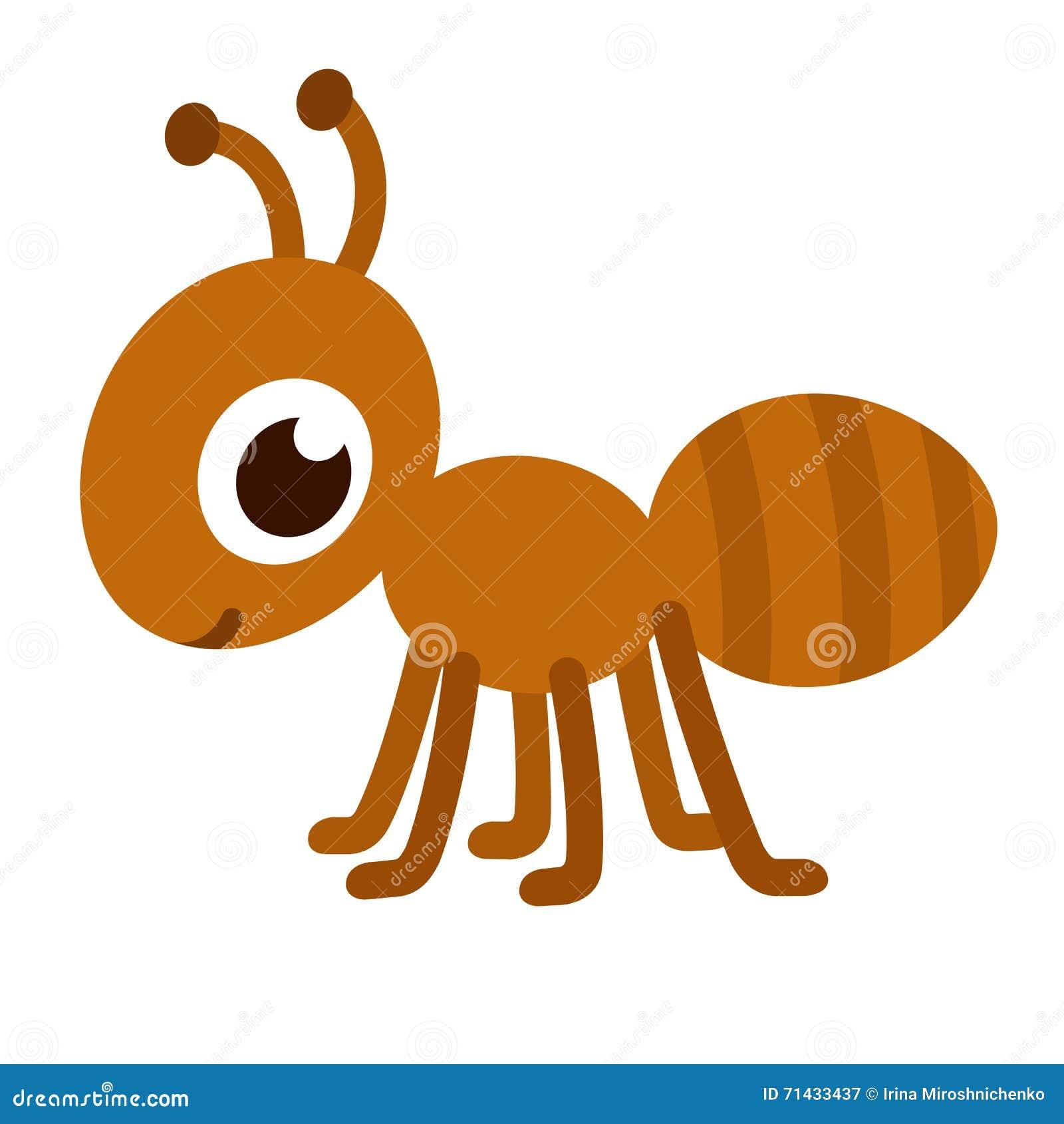 逗人喜爱的动画片蚂蚁 愉快的小的蚂蚁传染媒介例证.图片