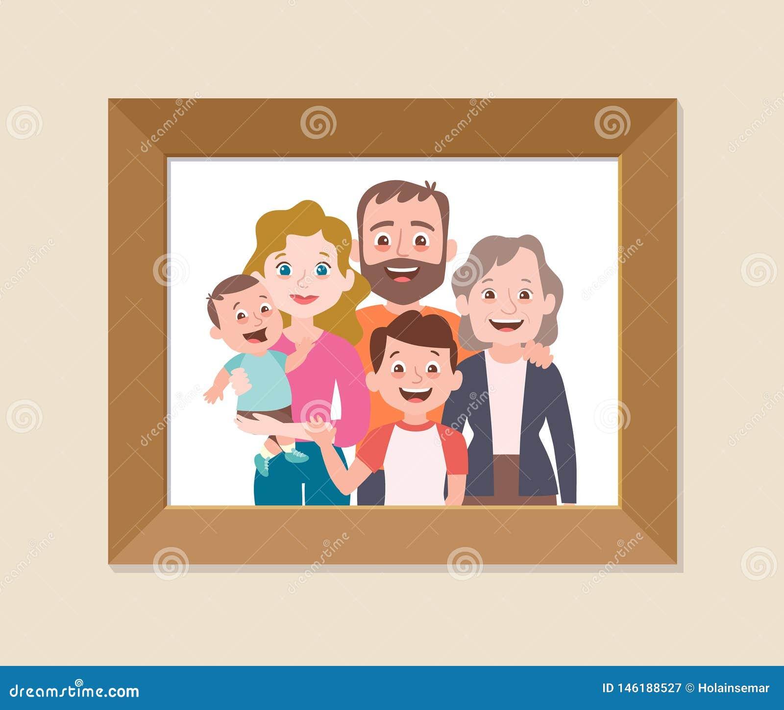 逗人喜爱的家庭一起构筑了照片