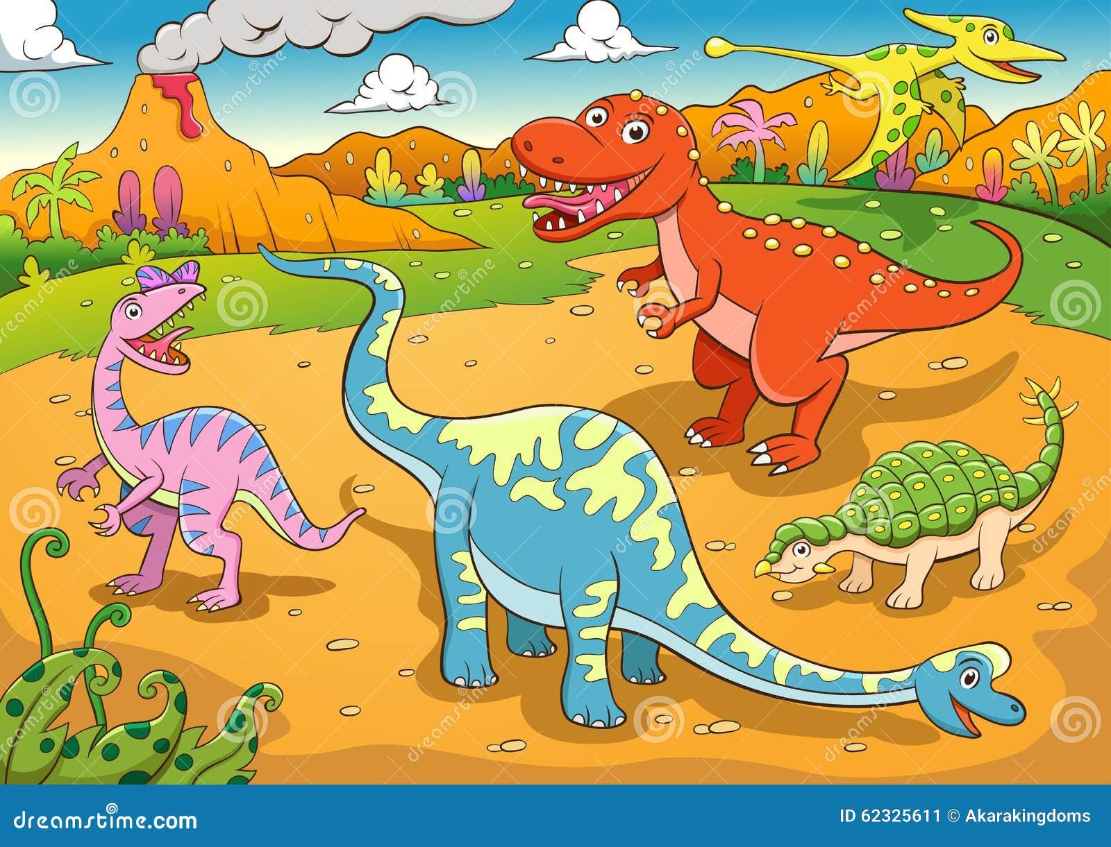 逗人喜爱的恐龙动画片的例证