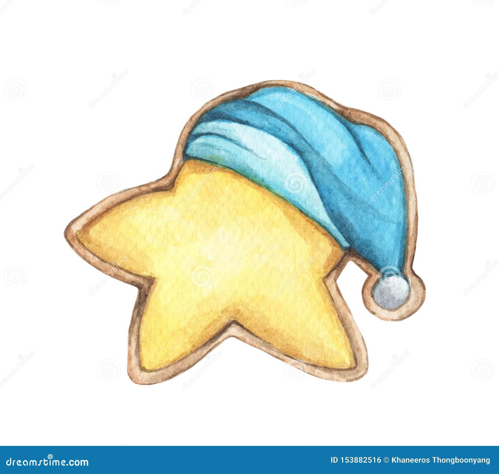逗人喜爱的曲奇饼在睡帽担任主角