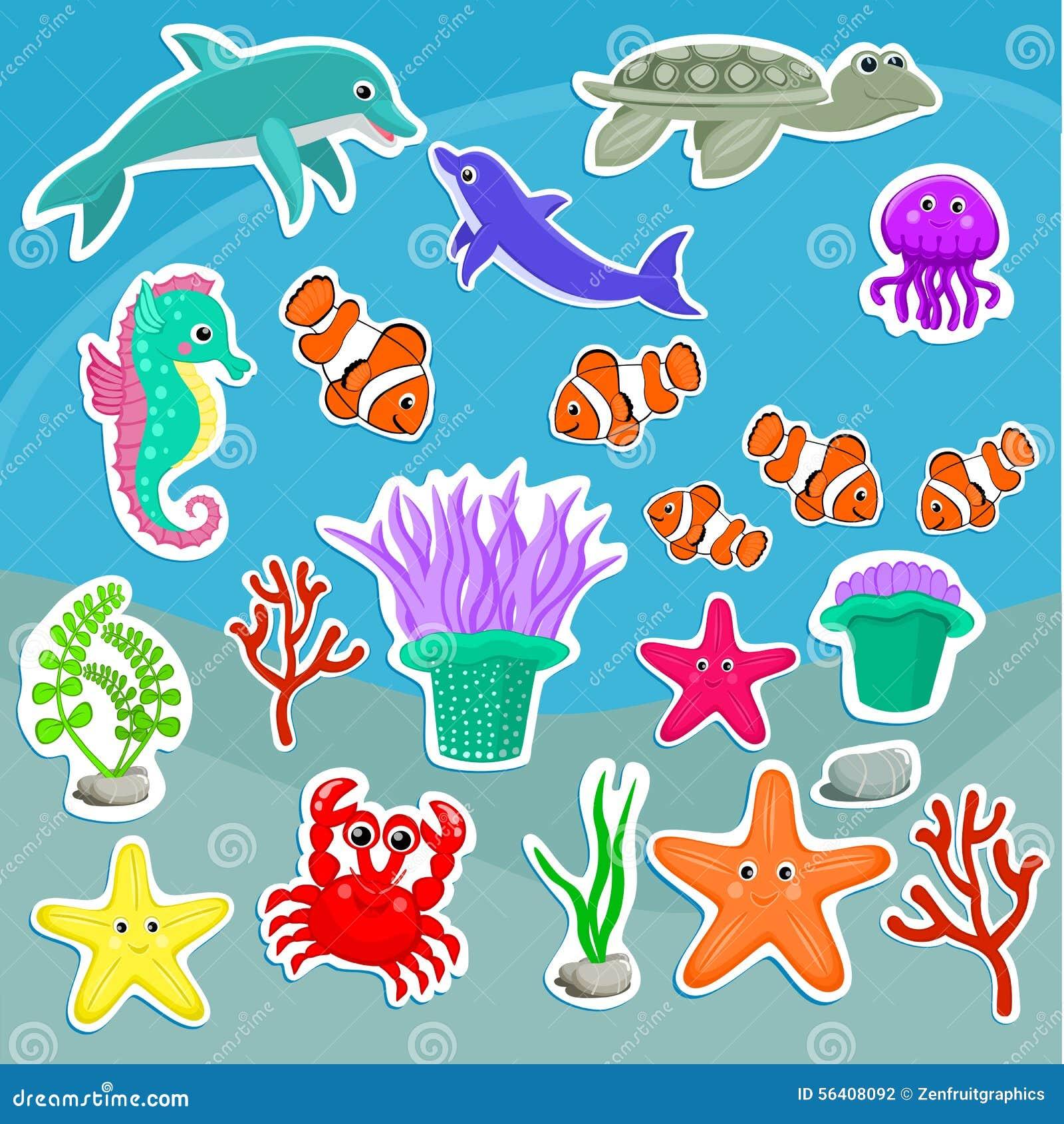 水母,海豚,螃蟹,乌龟,海葵,小丑鱼,海象,珊瑚, s图片