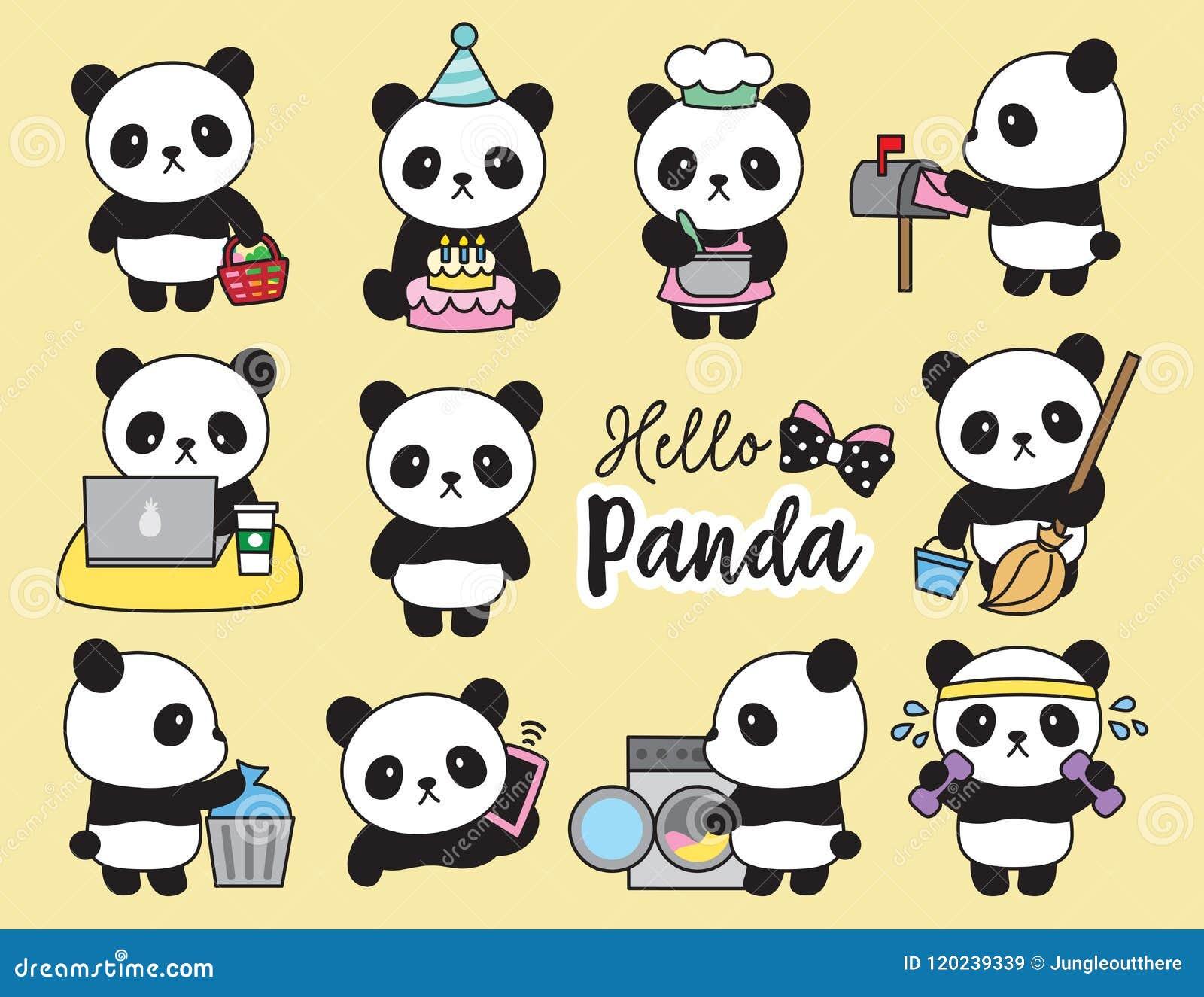 逗人喜爱的熊猫计划者活动