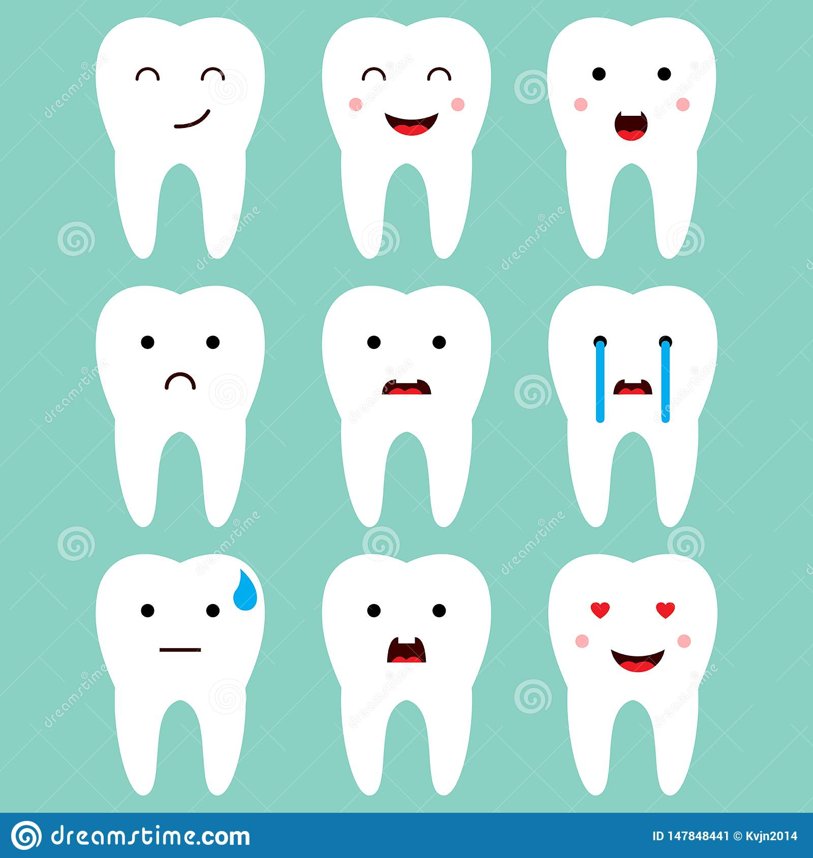 逗人喜爱的牙齿牙表示导航