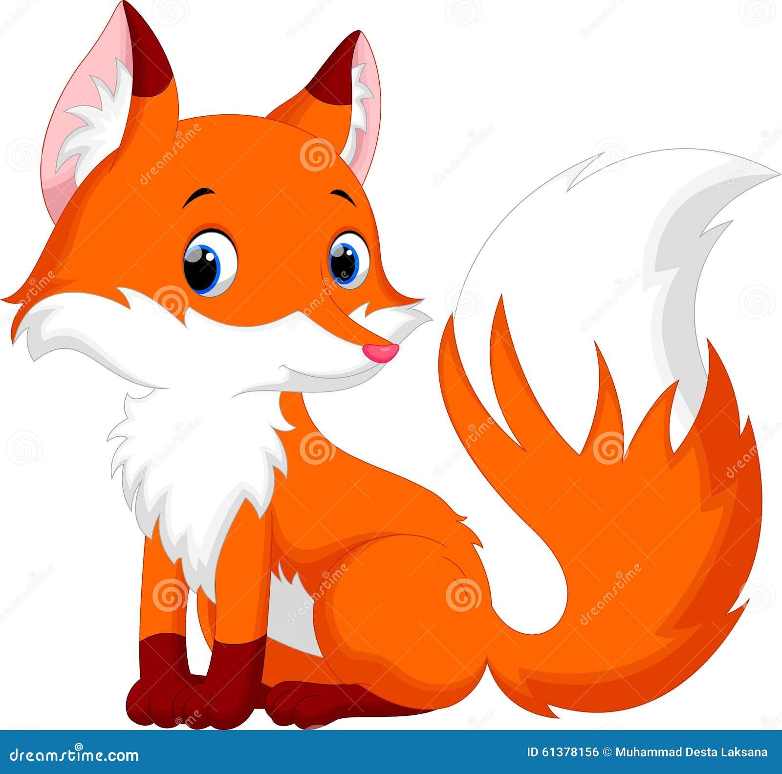 逗人喜爱的狐狸动画片. 图象, 友好.
