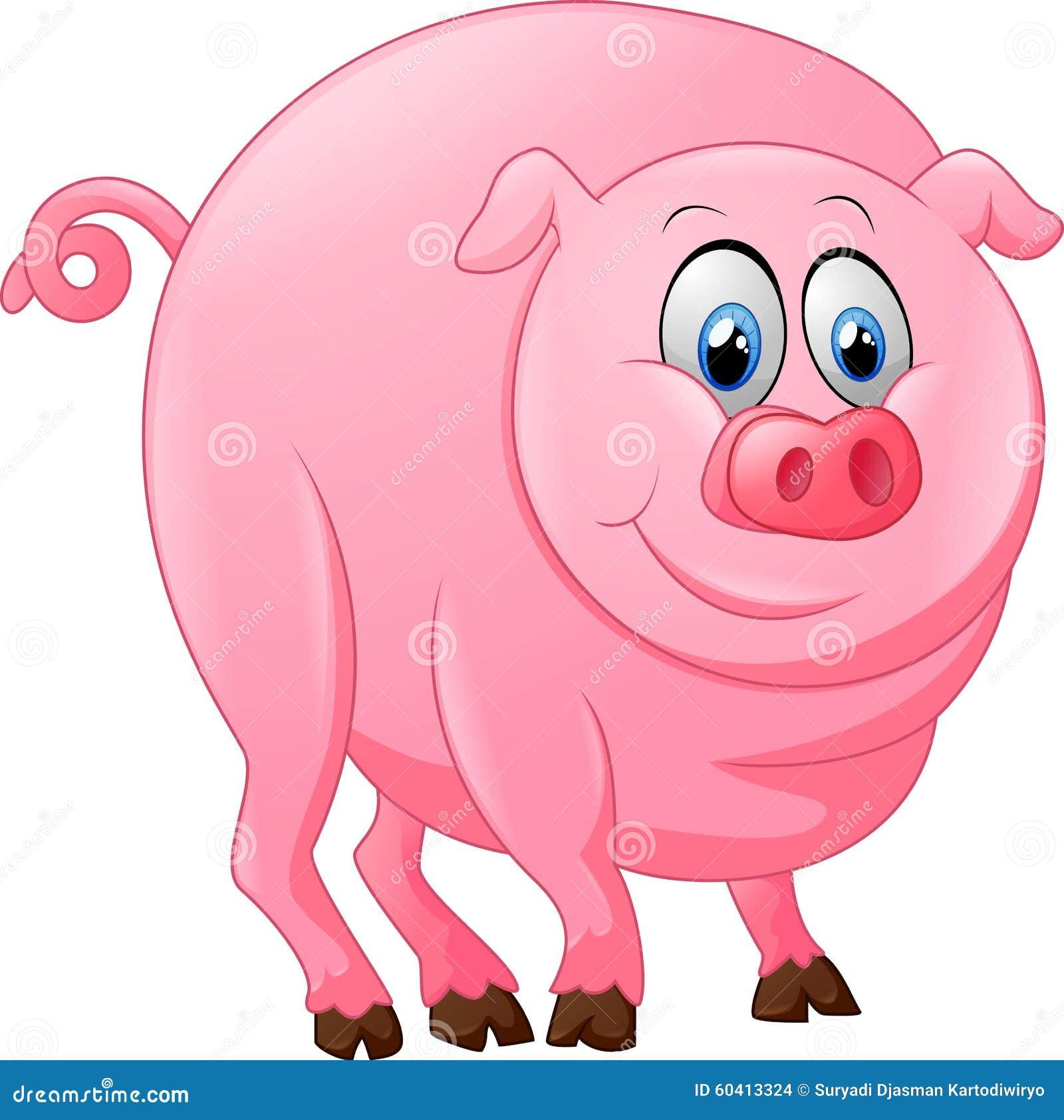 逗人喜爱的猪动画片