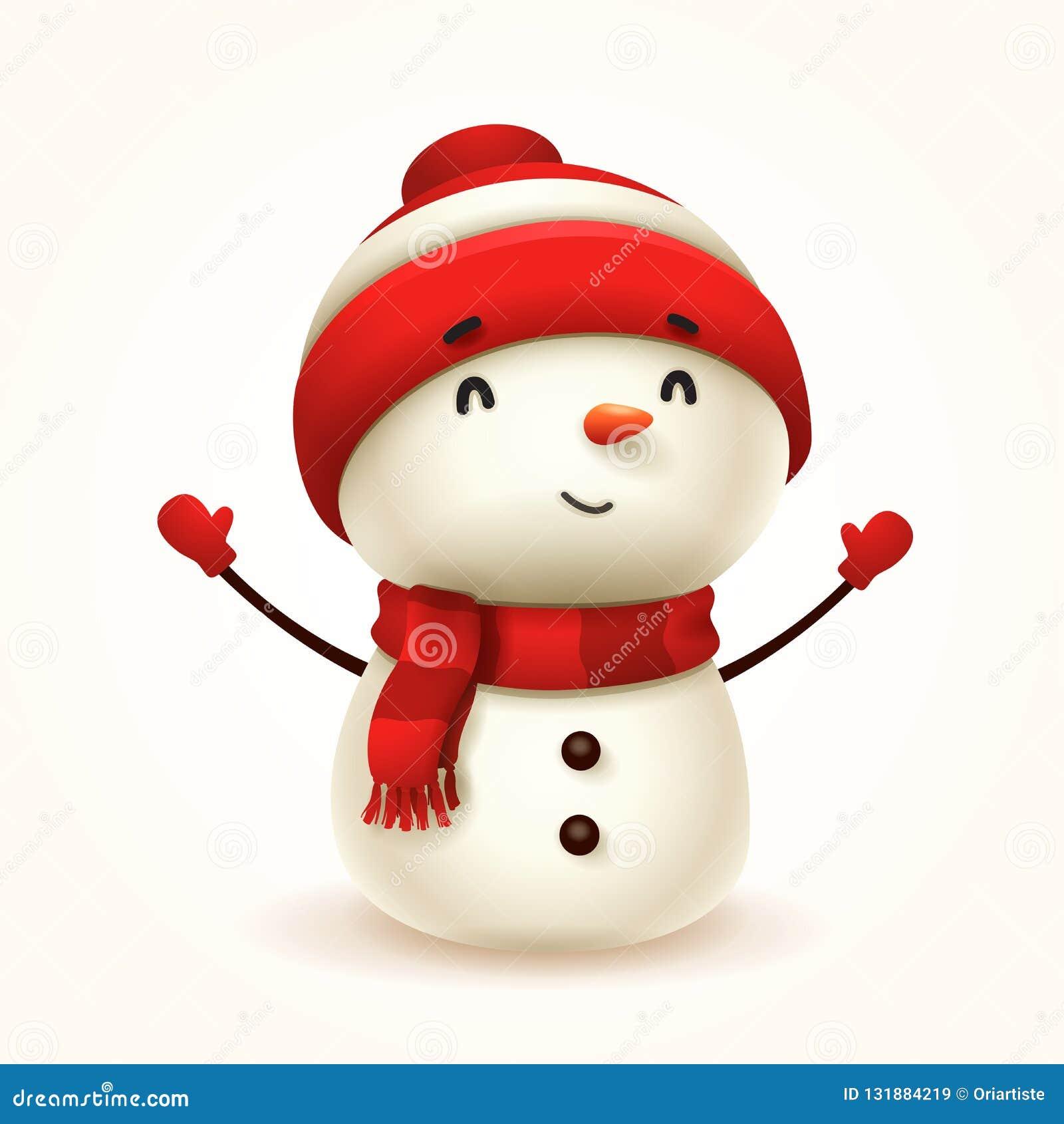 逗人喜爱的矮小的快乐的雪人 查出
