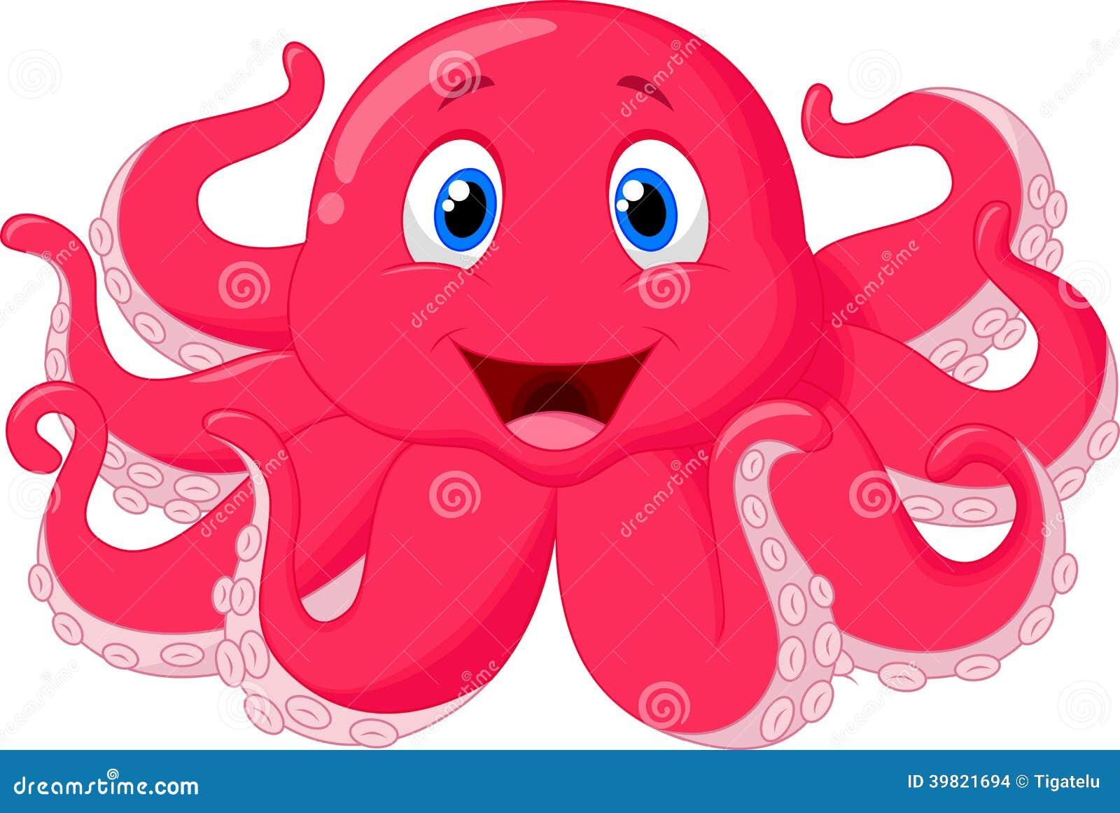 逗人喜爱的章鱼动画片