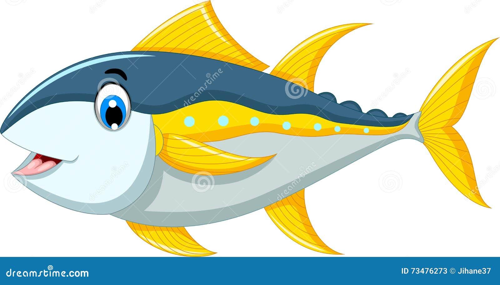 逗人喜爱的金枪鱼动画片