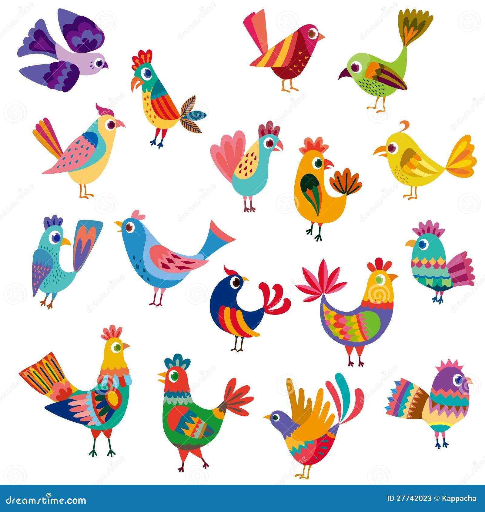 逗人喜爱的鸟和小鸡