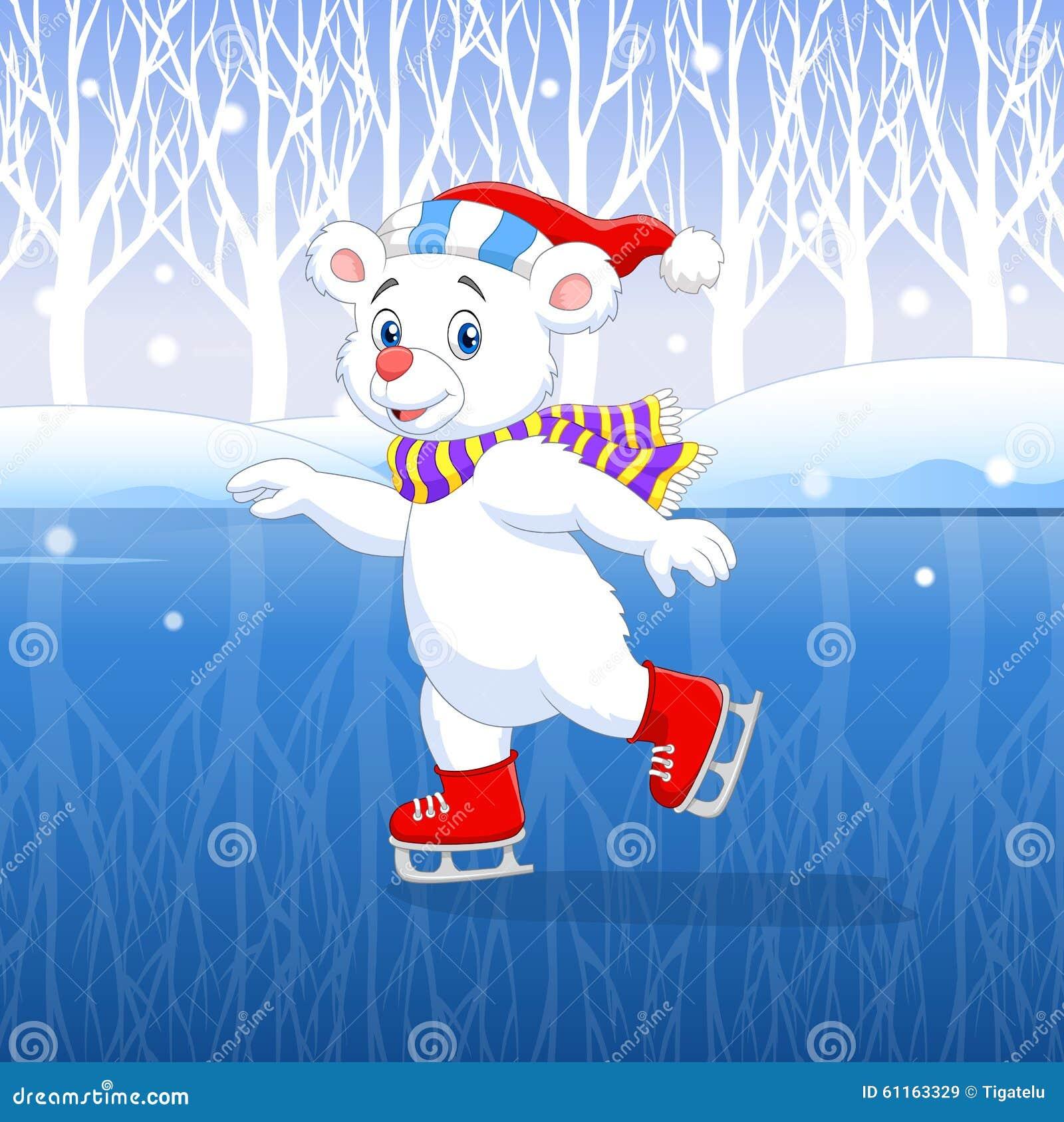 逗人生病的v小孩有冬天小孩的动画片北极熊的背景.乌龟放生喜爱例证好吗图片