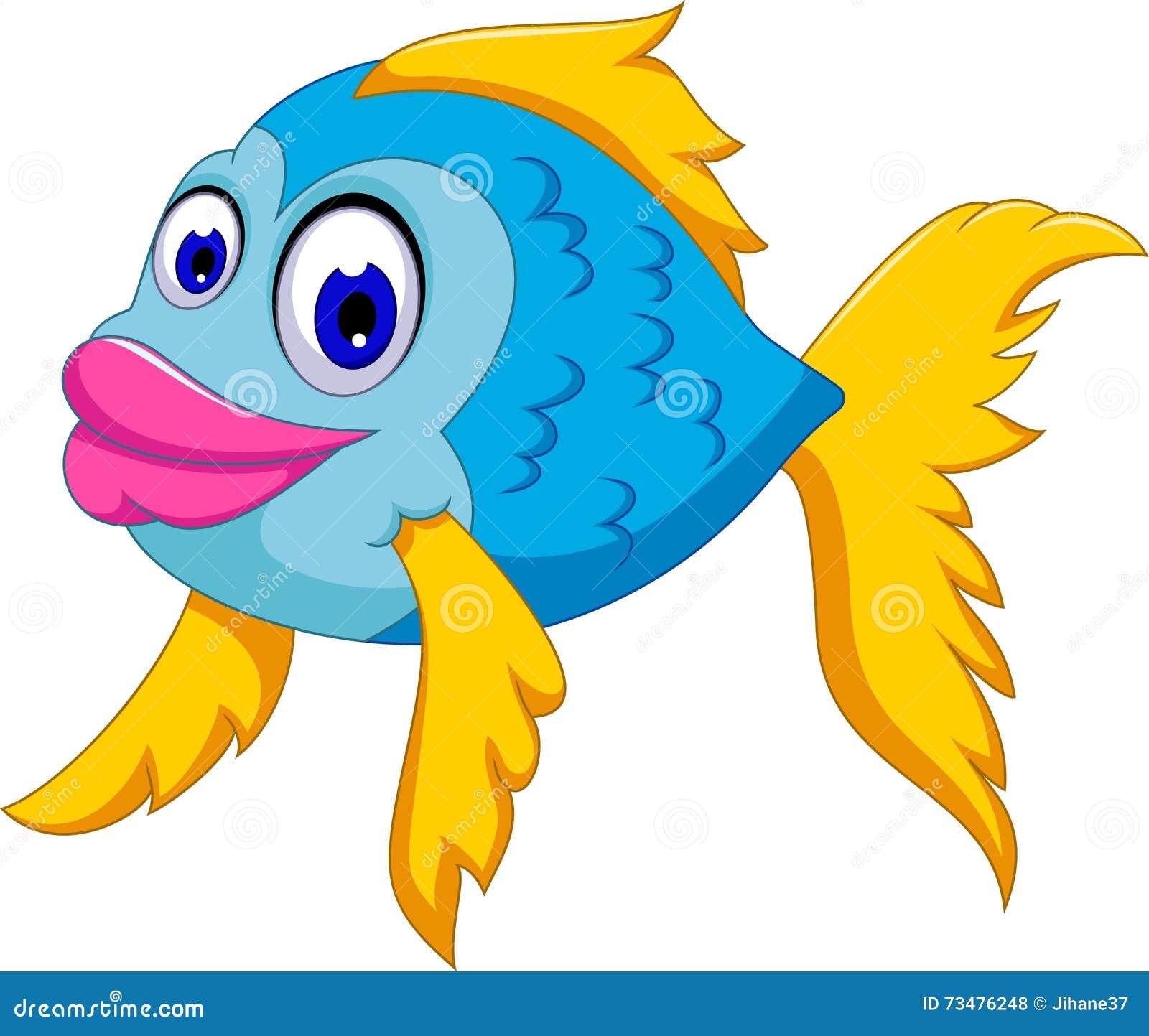 逗人喜爱鱼动画片摆在
