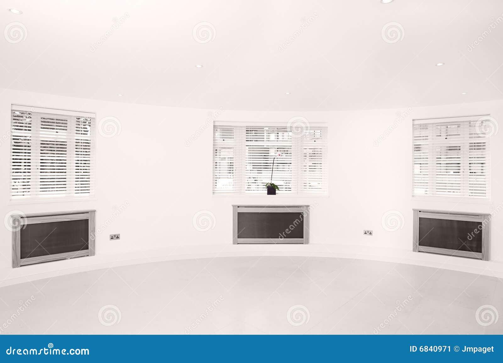 通风明亮的轻的房间三视窗