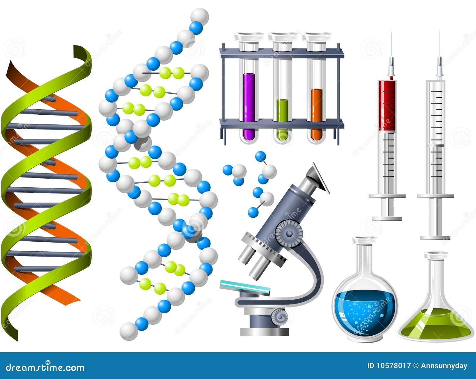遗传学图标科学