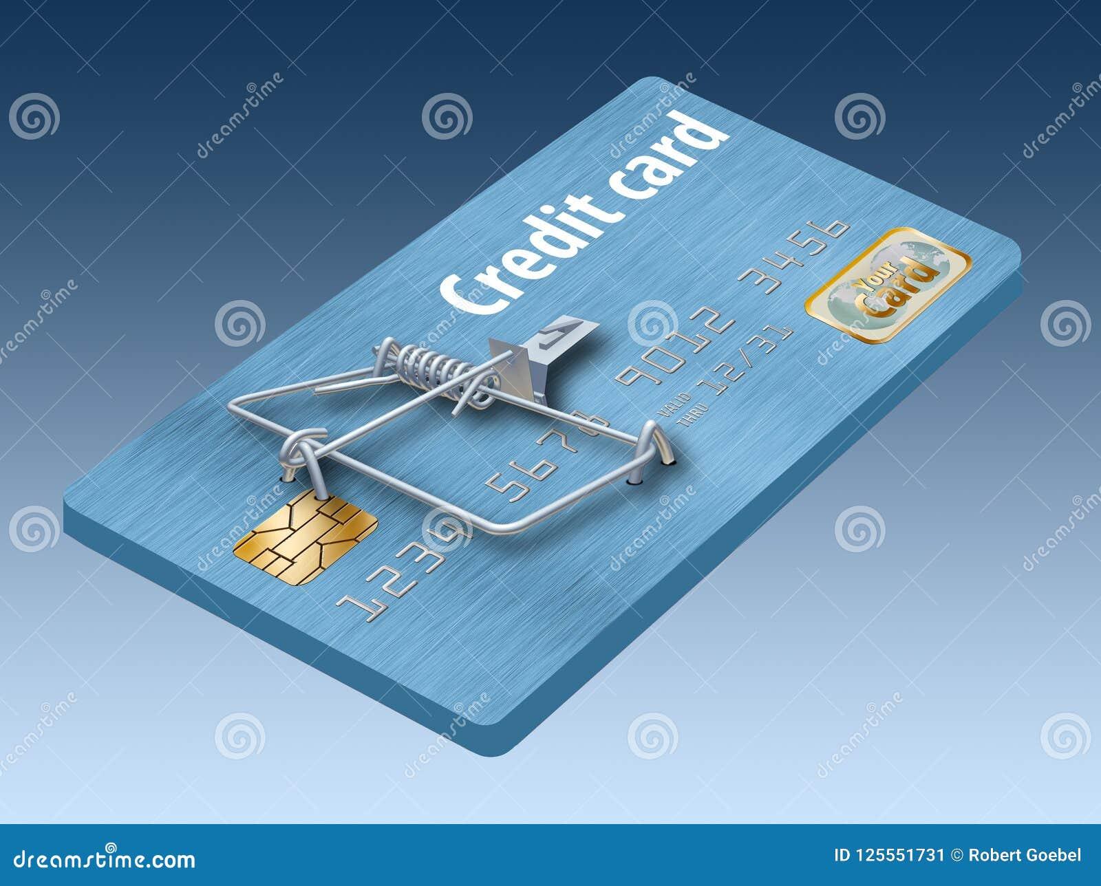 避免信用卡陷井,象看起来象信用卡把变成捕鼠器的这一个