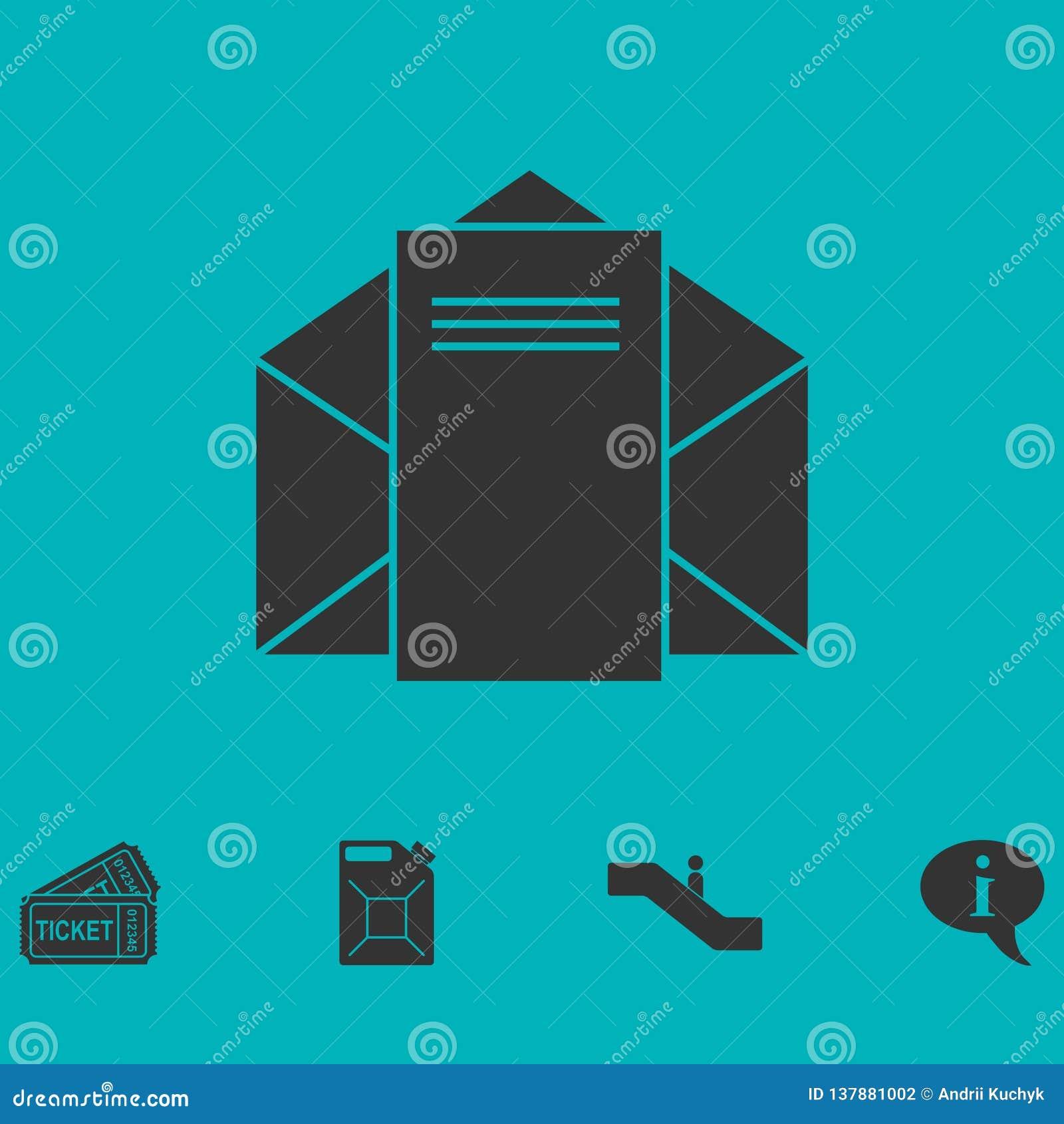 邮件平展信件象
