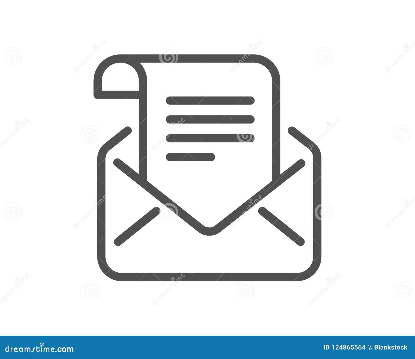 邮件时事通讯线象 读消息书信标志