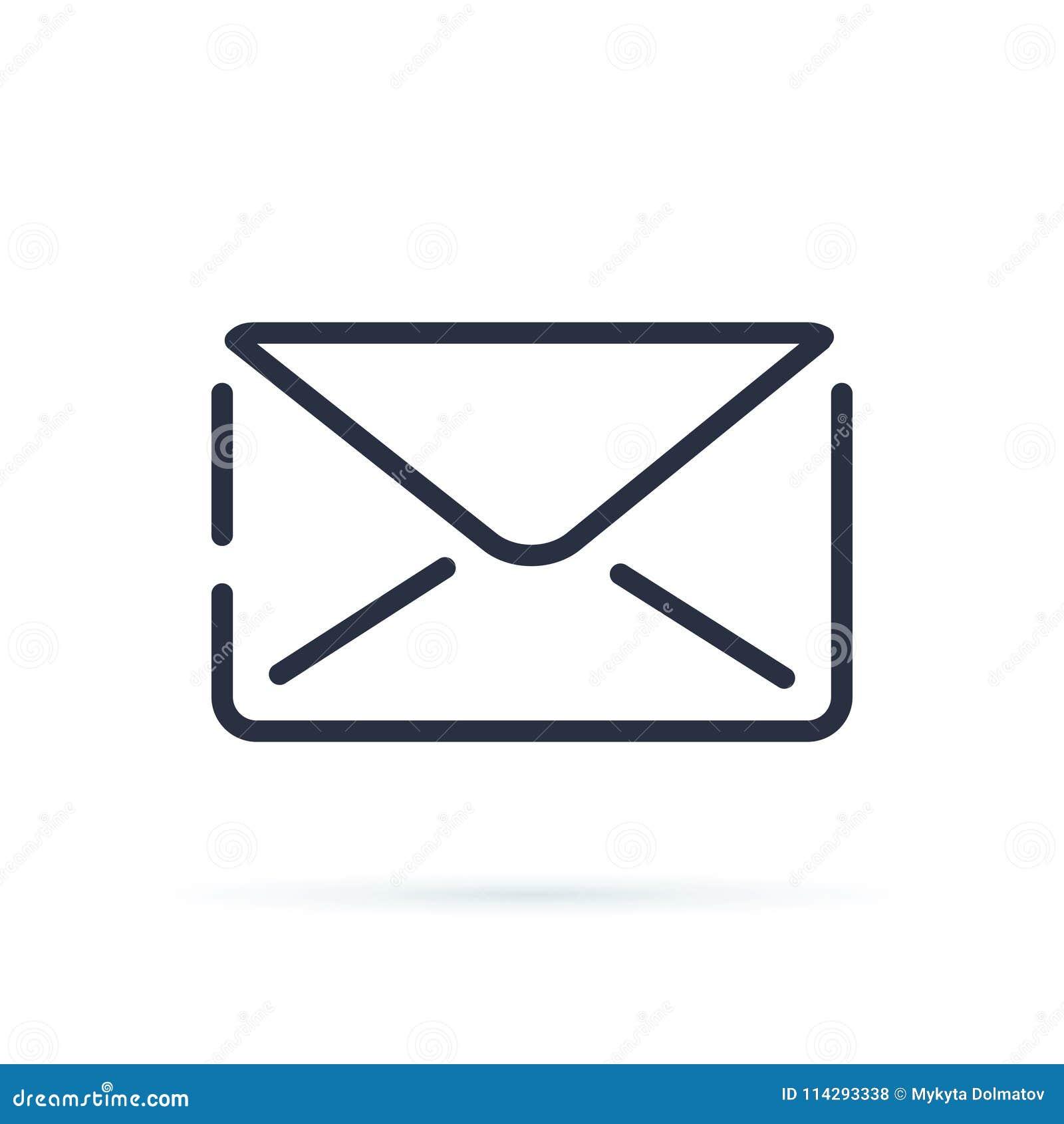 邮寄象或信封标志在透明背景隔绝的传染媒介例证 电子邮件包围图标邮件开放接受