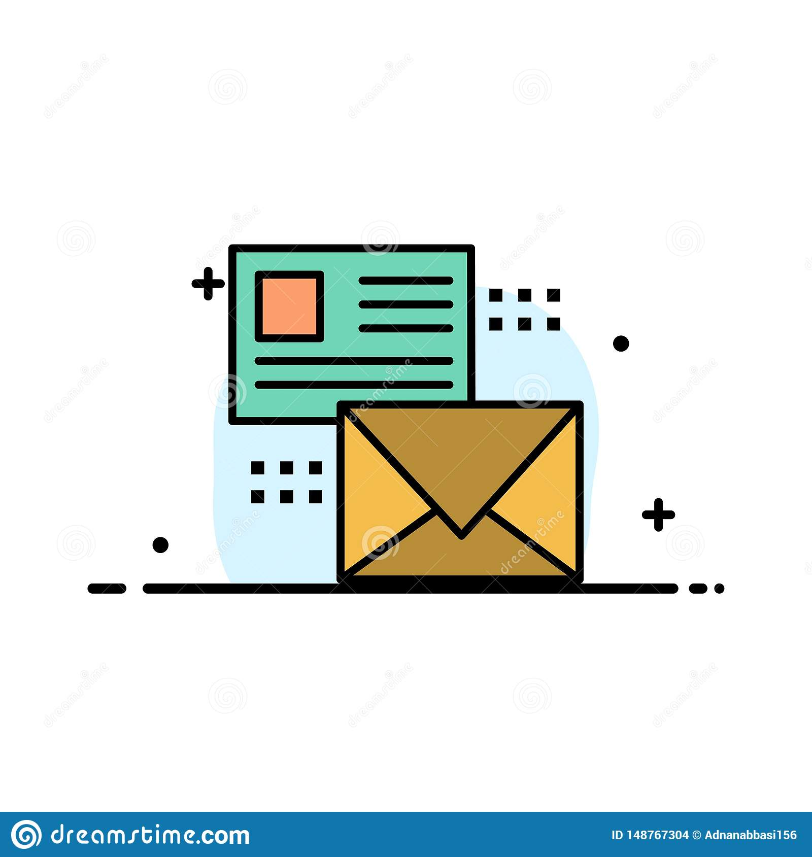邮寄,交谈,电子邮件,名单,邮件企业平的线填装了象传染媒介横幅模板