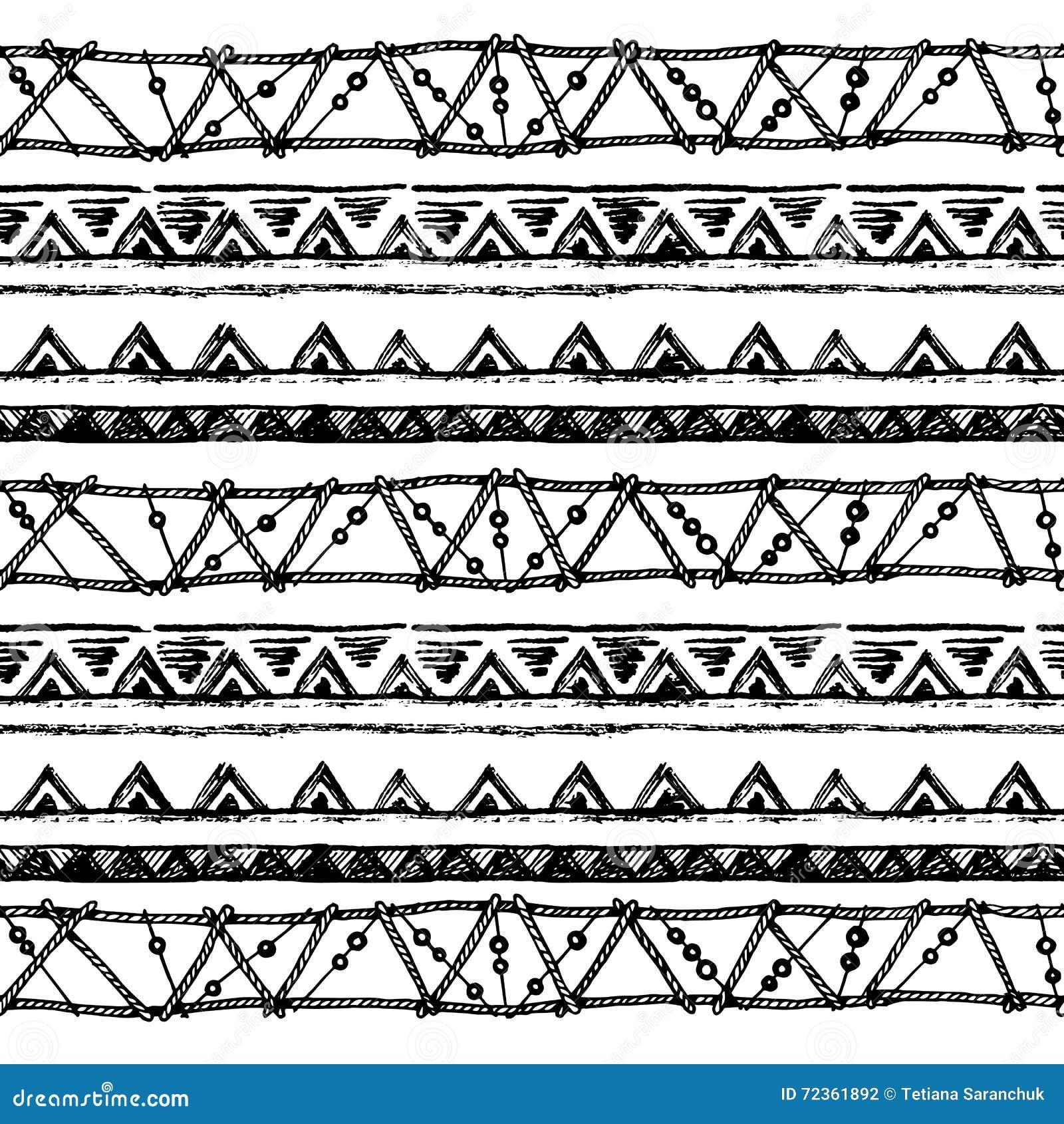 部族种族无缝 黑白颜色 对邀请,网,纺织品,墙纸,包装纸