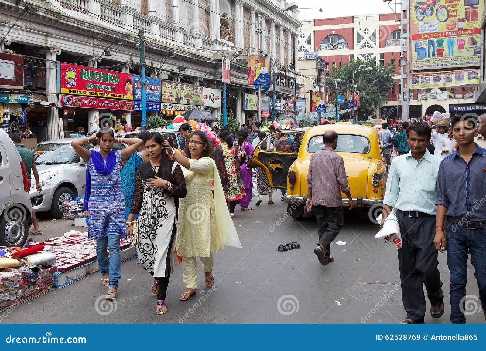 都市场面在加尔各答,印度